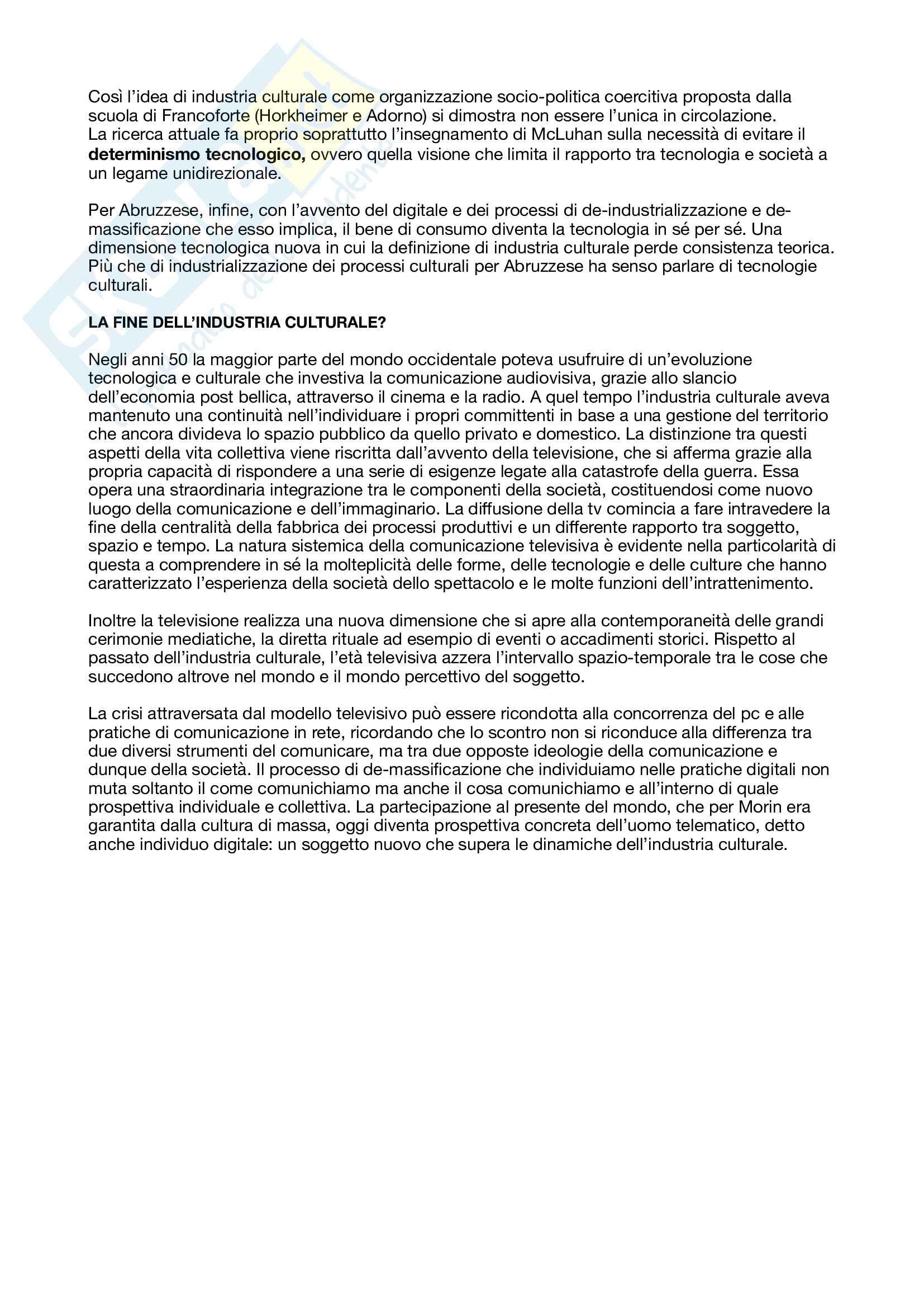 Riassunto esame Sociologia delle tecnologie culturali, prof. Brancato, libro consigliato Il mondo dei media, Brancato, Chirchiano, Fichera Pag. 6