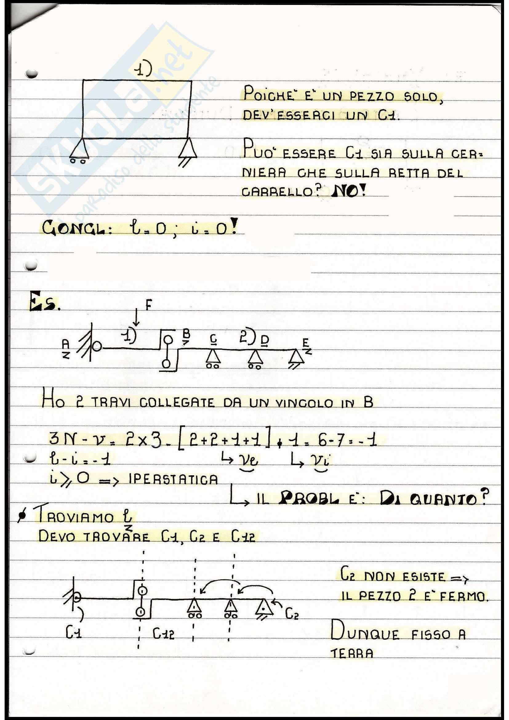 Scienza delle costruzioni - iperstaticità e labilità di una struttura Pag. 56