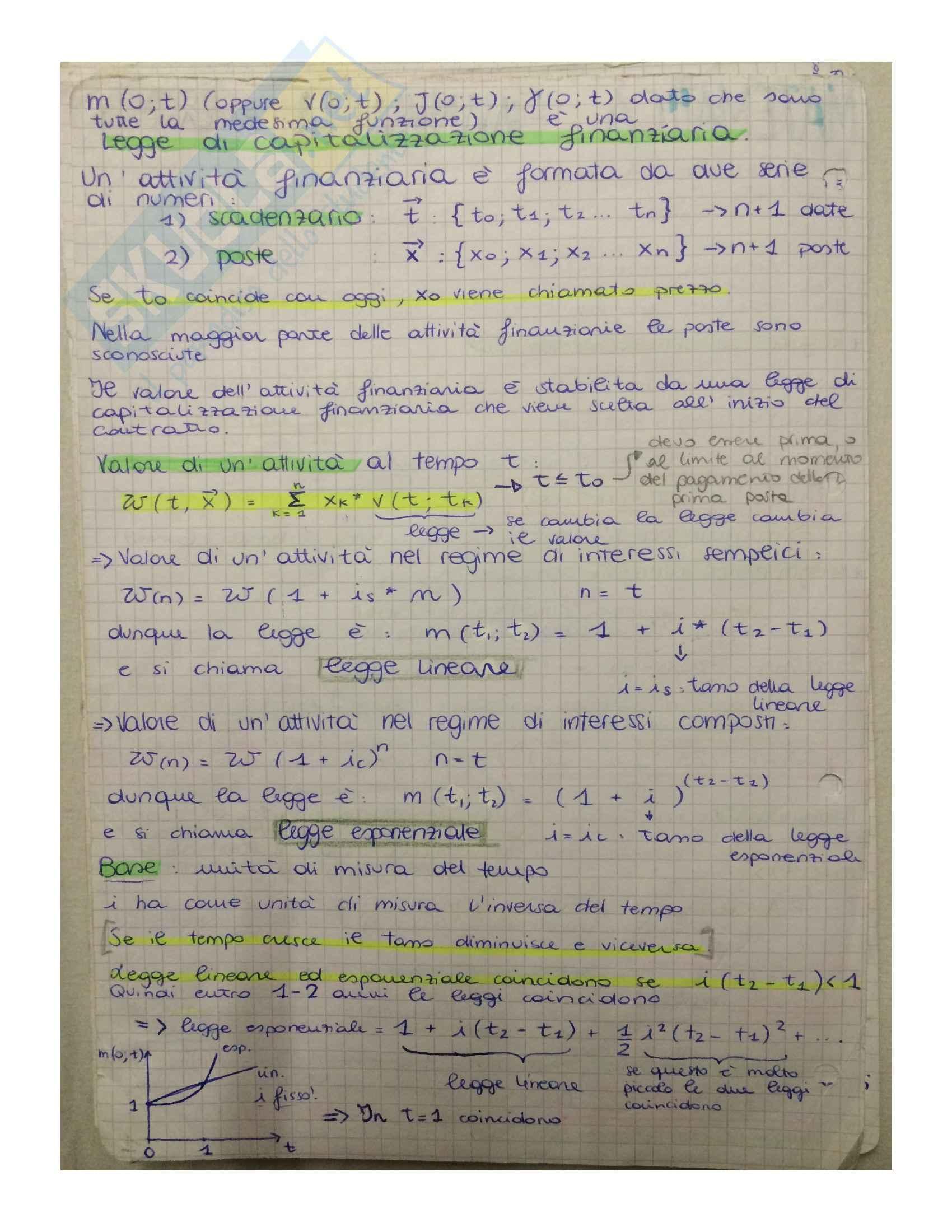 Matematica finanziaria - Appunti, definizioni e formule Pag. 2