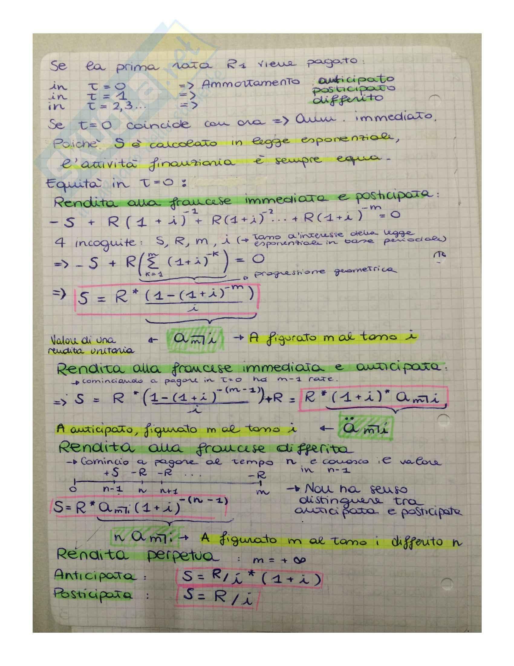 Matematica finanziaria - Appunti, definizioni e formule Pag. 6