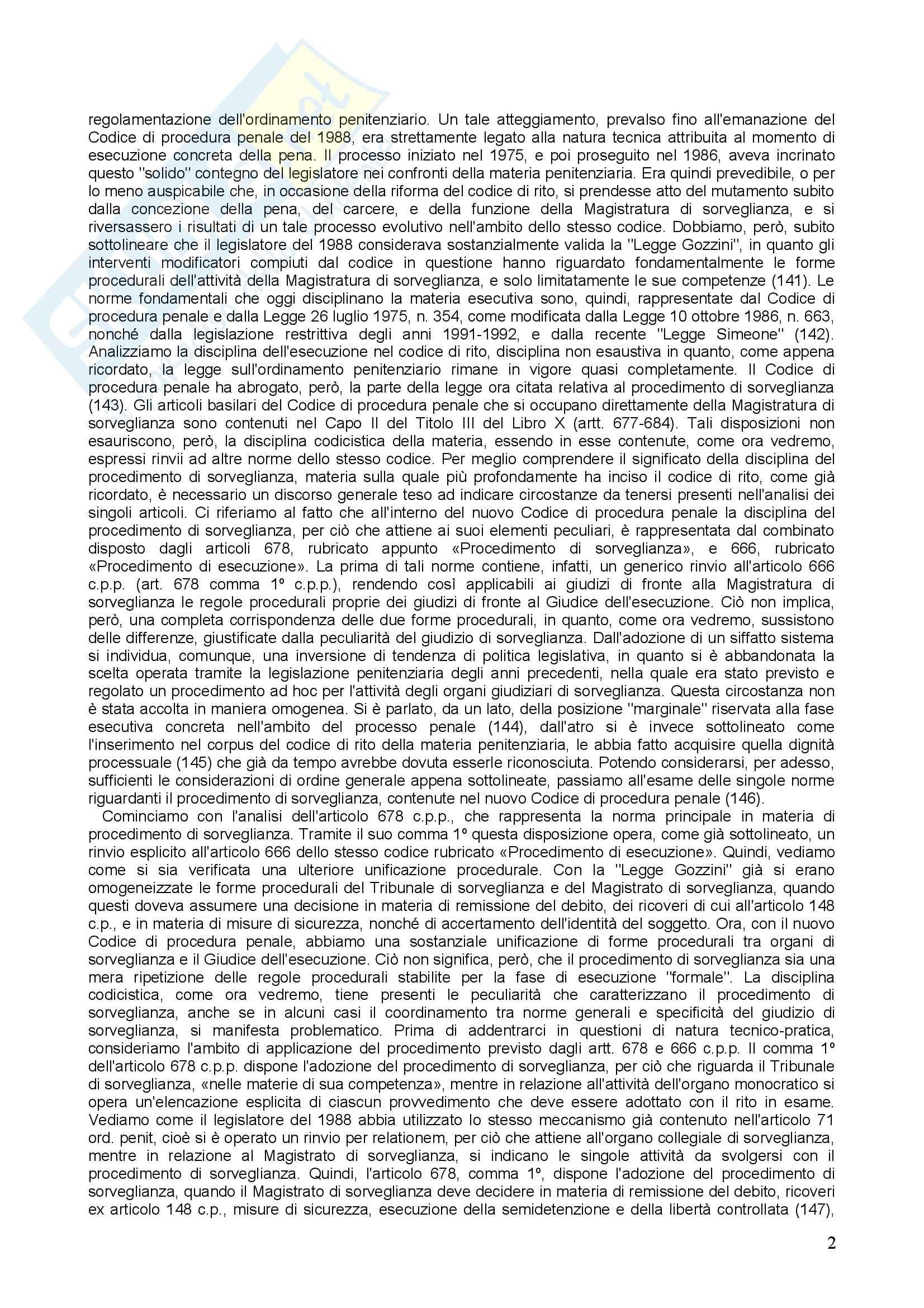 Diritto penitenziario - il procedimento di sorveglianza Pag. 2