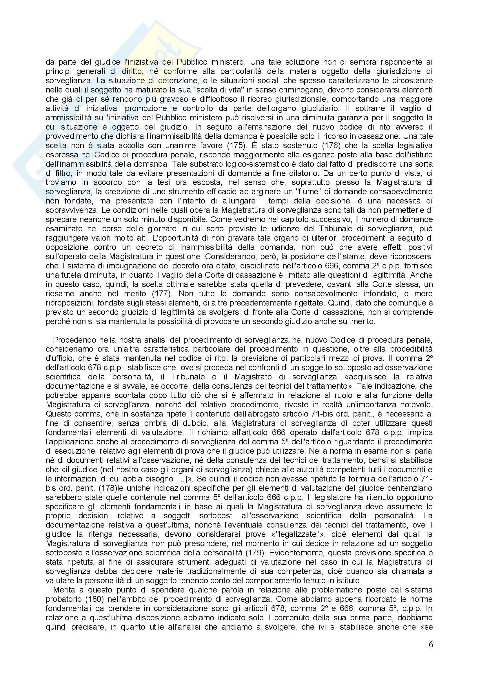 Diritto penitenziario - il procedimento di sorveglianza Pag. 6