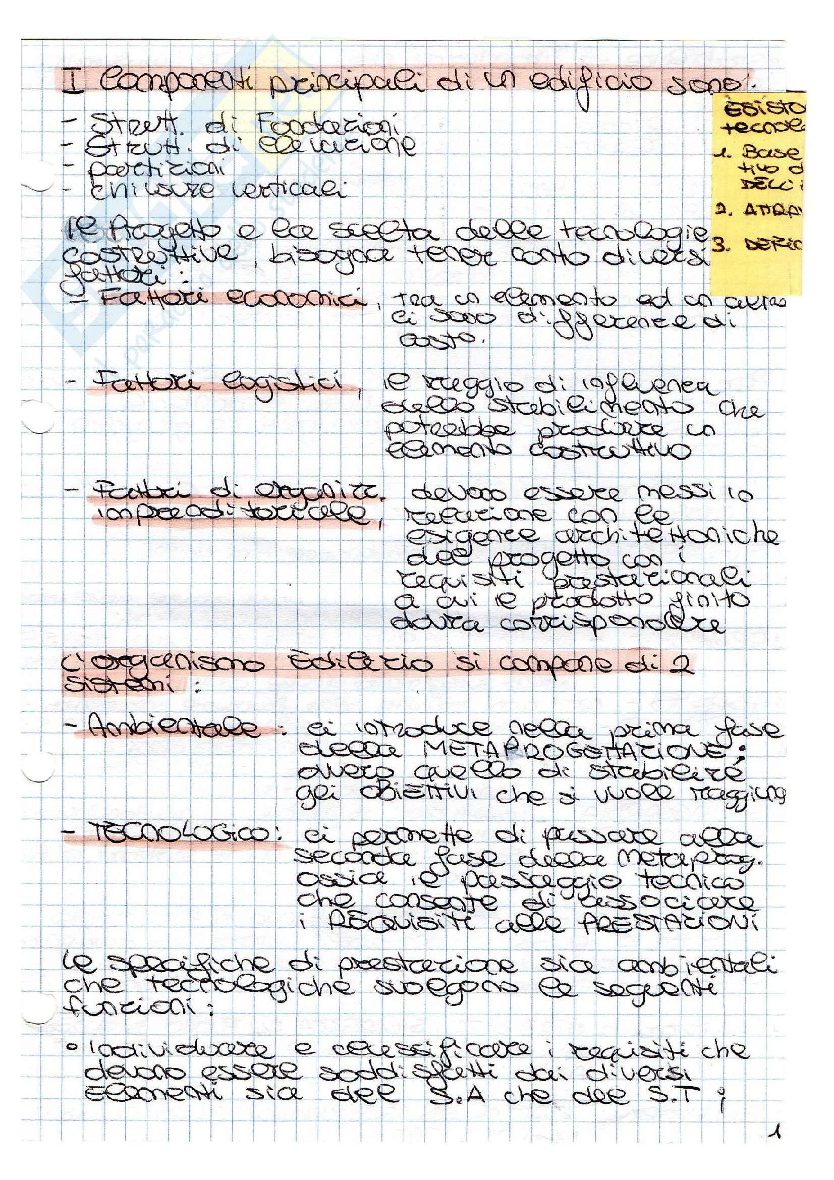 Appunti Tecnologia dei processi realizzativi