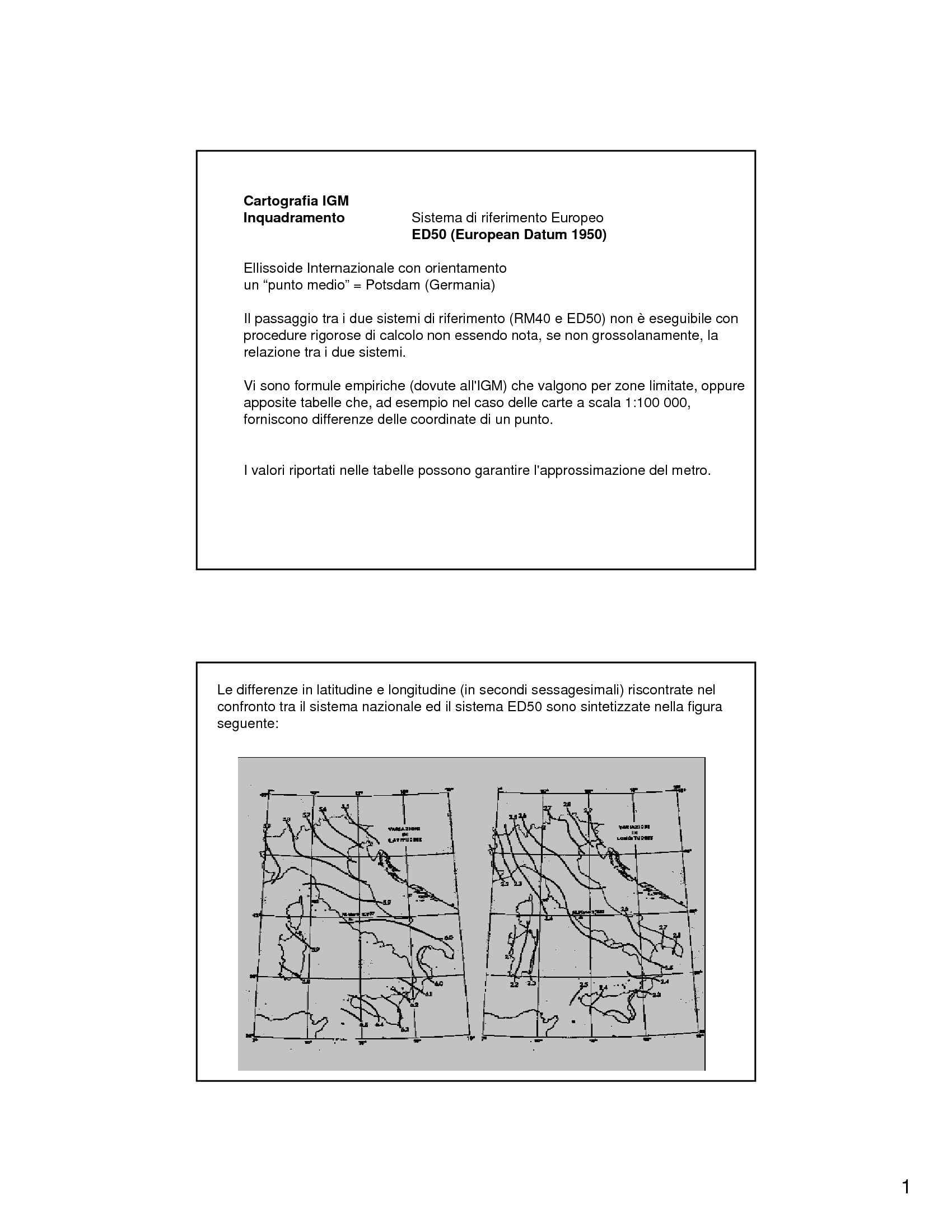 Cartografia IGM e cartografia catastale