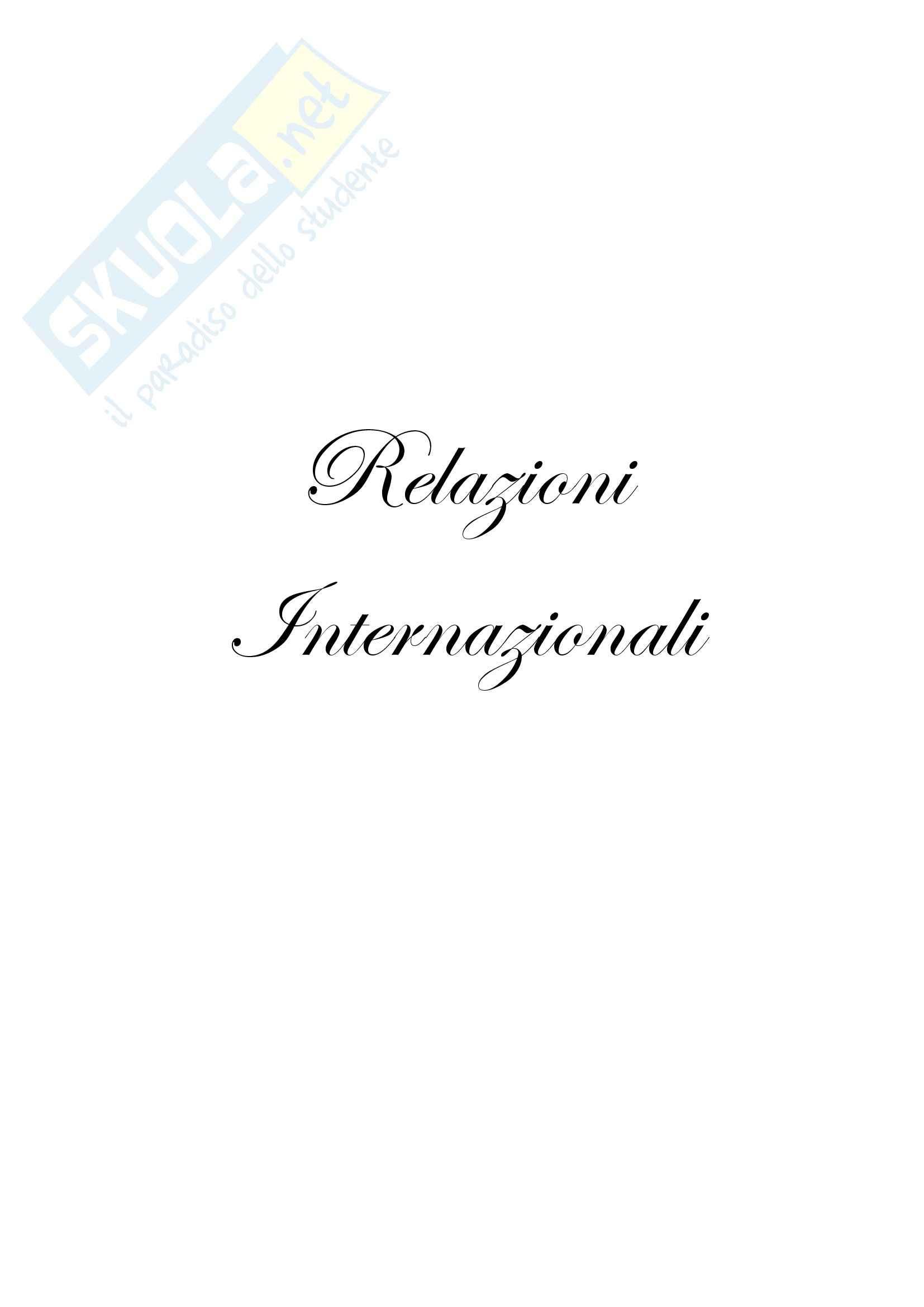 Riassunto esame Relazioni Internazionali, prof. Parsi, libro consigliato Relazioni Internazionali, Andreatta