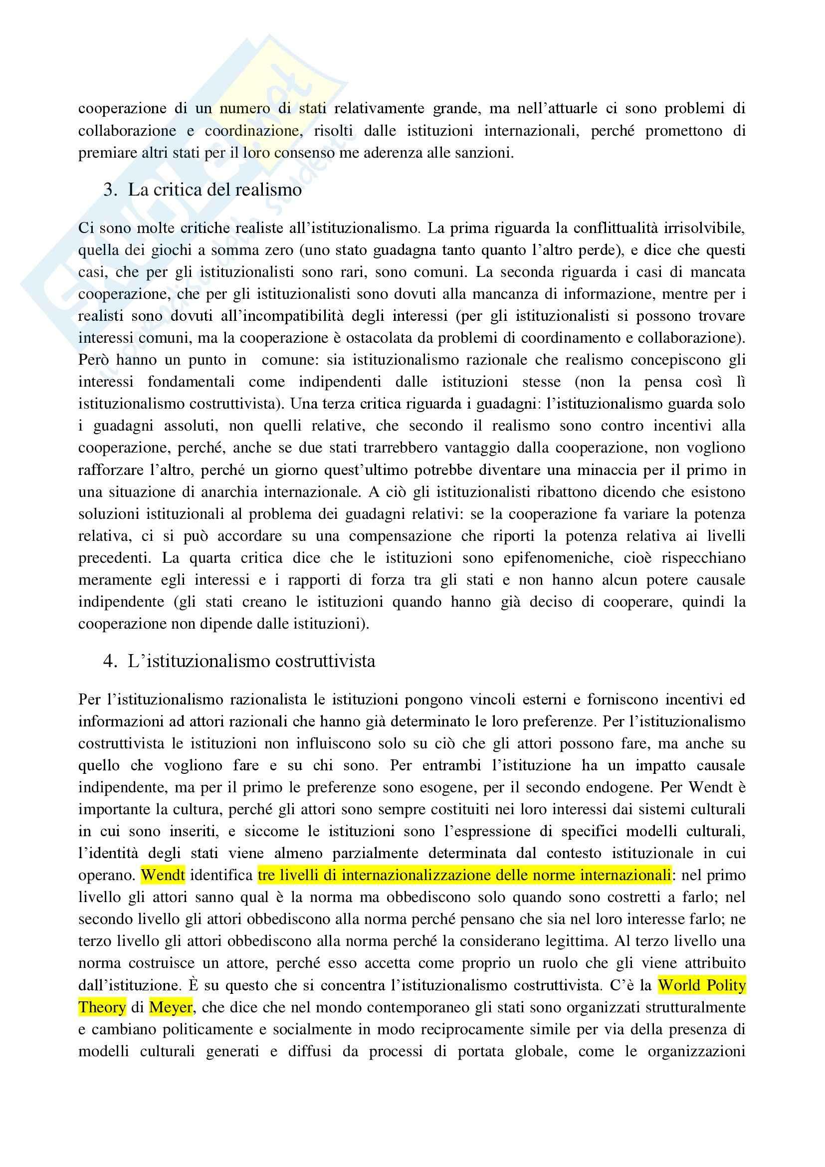 Riassunto esame Relazioni Internazionali, prof. Parsi, libro consigliato Relazioni Internazionali, Andreatta Pag. 26