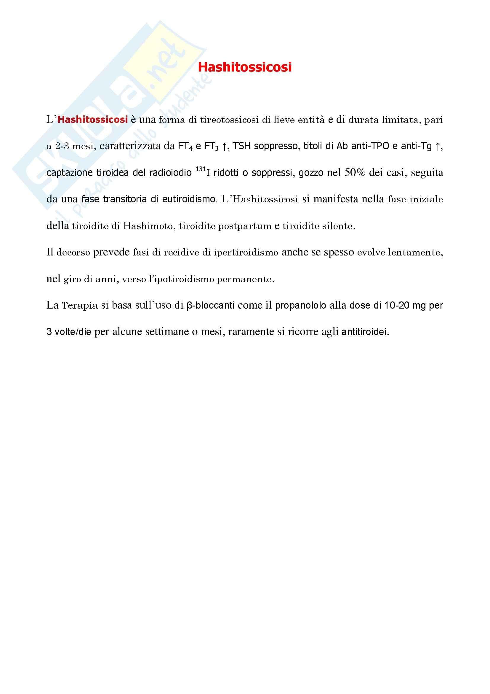 Endocrinologia - hashitossicosi