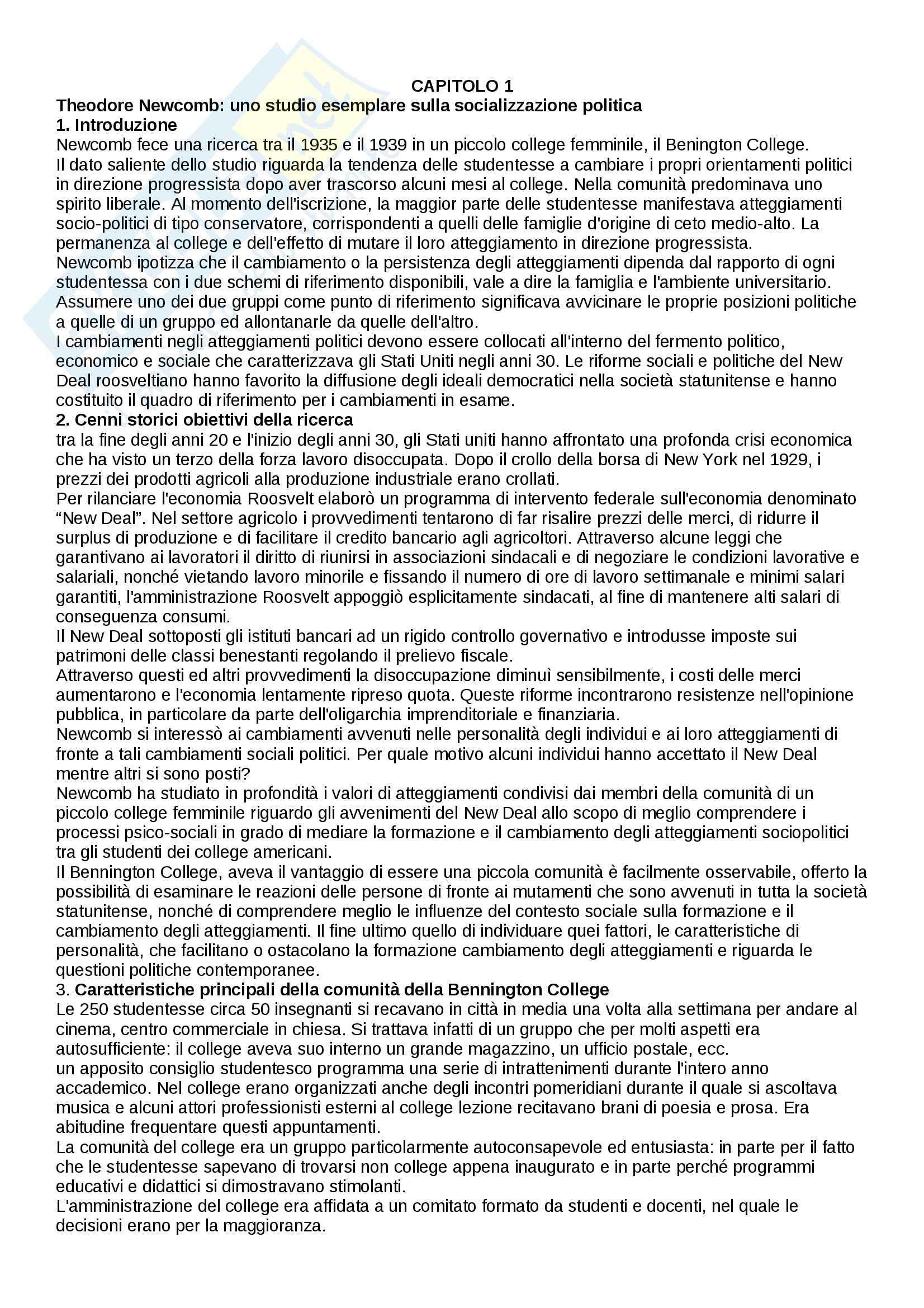 Riassunto esame Psicologia sociale, prof. Scopelliti, libro consigliato Ricerche e protagonisti della psicologia sociale, Palmonari, Cavazza