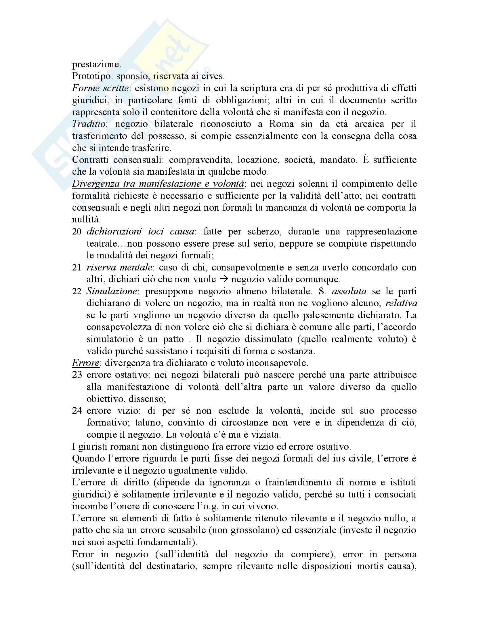 Riassunto esame Istituzioni di Diritto Romano, prof. Buzzacchi, libro consigliato Istituzioni di Diritto Romano, Marrone Pag. 16