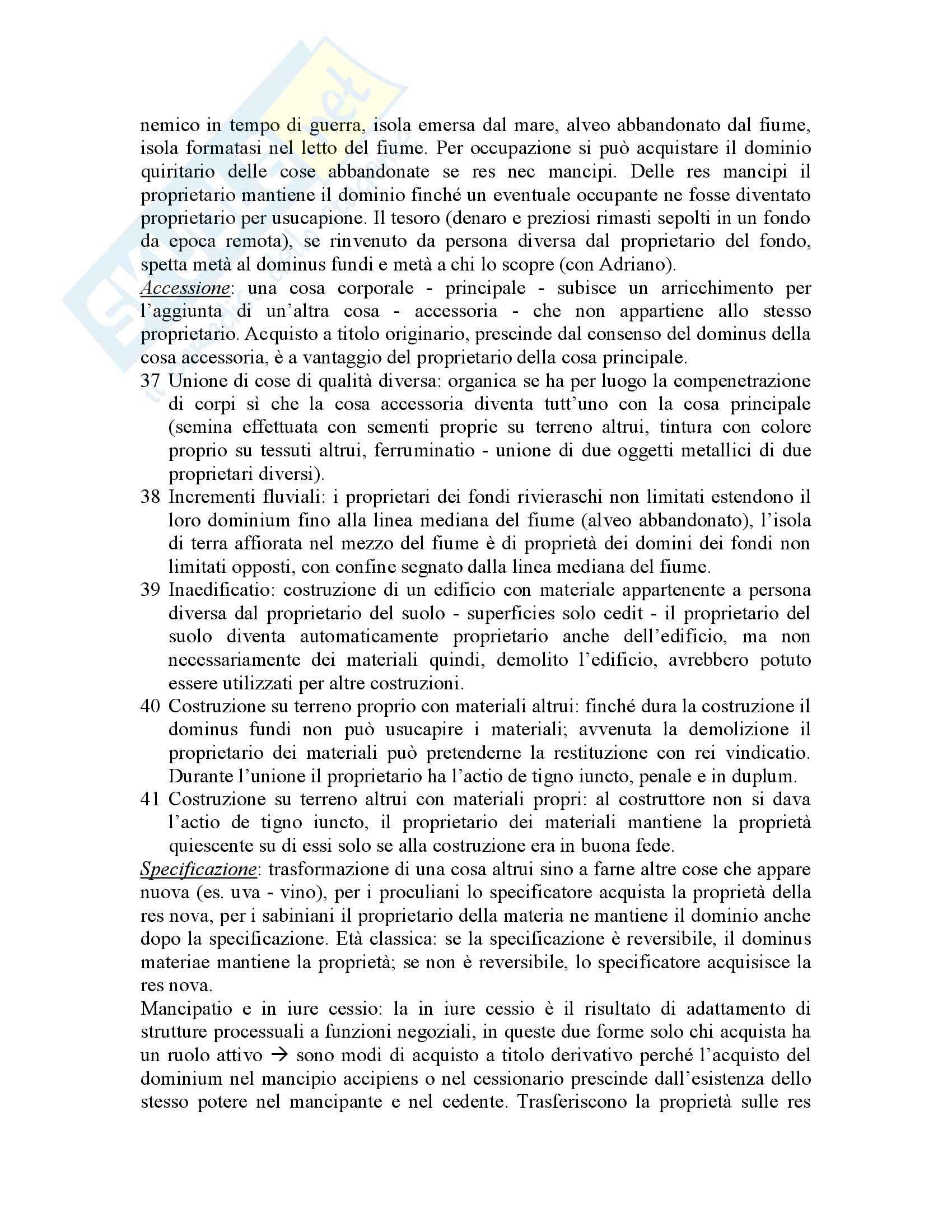 Riassunto esame Istituzioni di Diritto Romano, prof. Buzzacchi, libro consigliato Istituzioni di Diritto Romano, Marrone Pag. 36