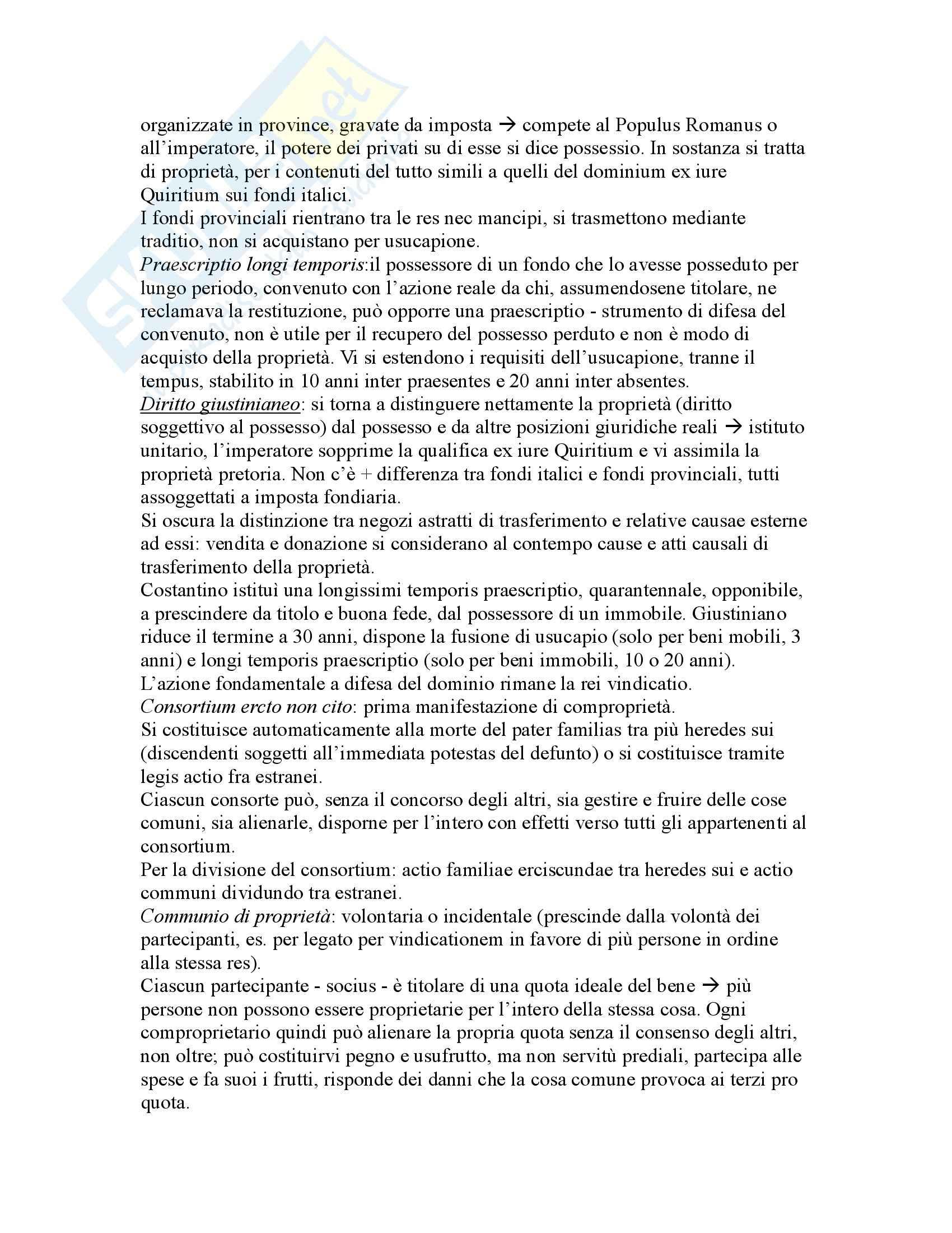 Riassunto esame Istituzioni di Diritto Romano, prof. Buzzacchi, libro consigliato Istituzioni di Diritto Romano, Marrone Pag. 41