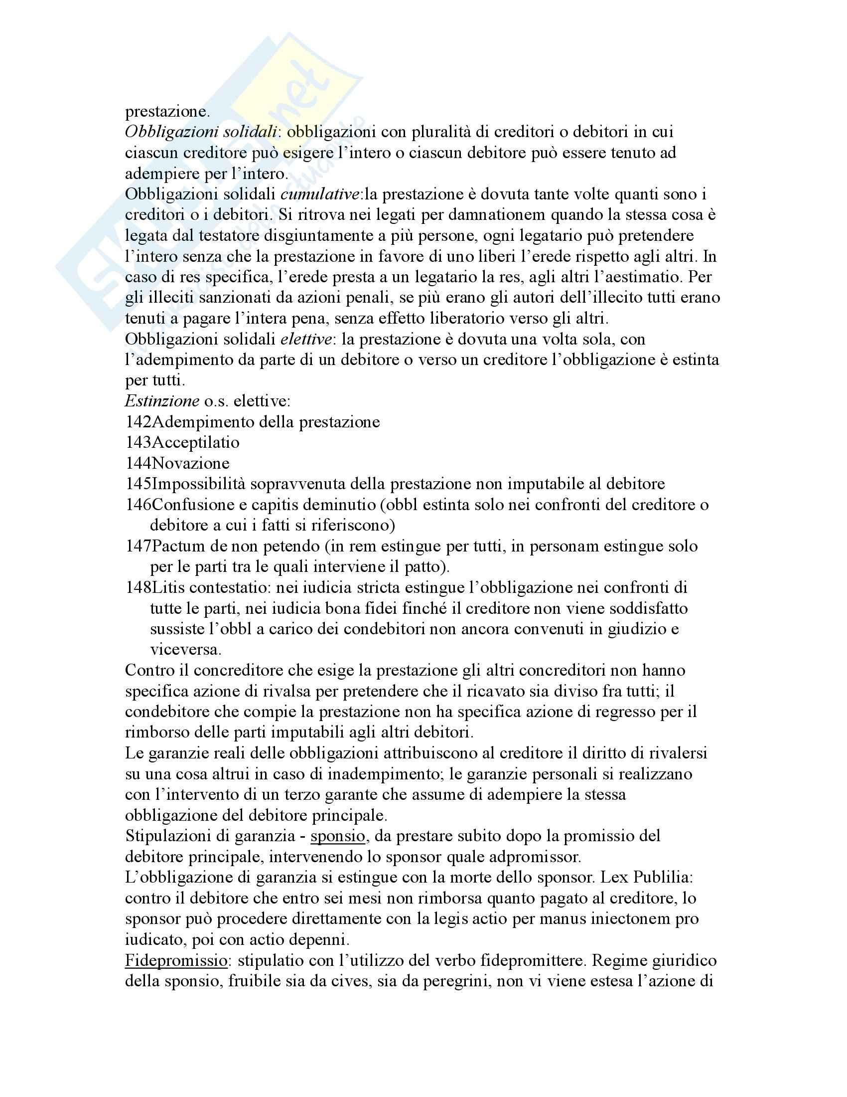 Riassunto esame Istituzioni di Diritto Romano, prof. Buzzacchi, libro consigliato Istituzioni di Diritto Romano, Marrone Pag. 66