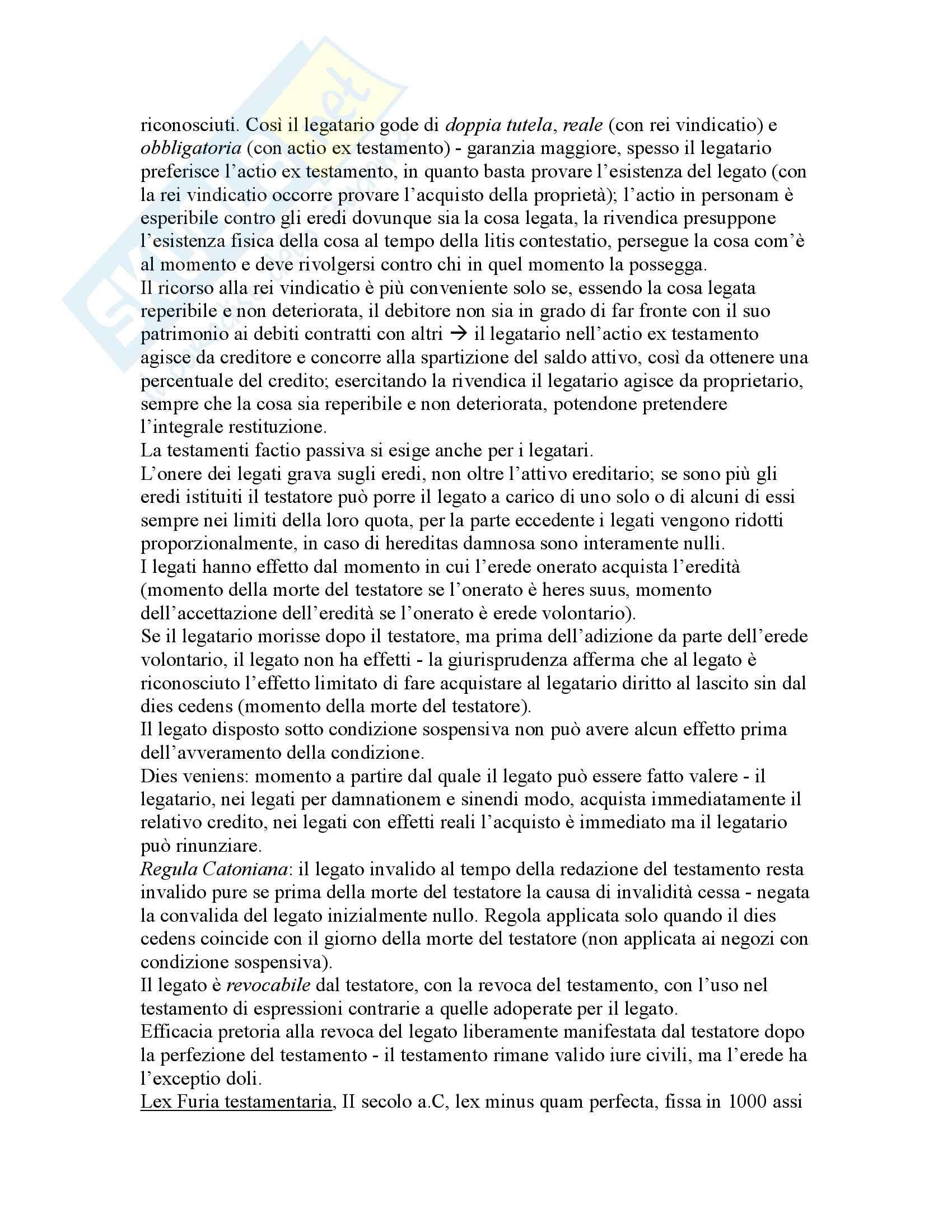 Riassunto esame Istituzioni di Diritto Romano, prof. Buzzacchi, libro consigliato Istituzioni di Diritto Romano, Marrone Pag. 81