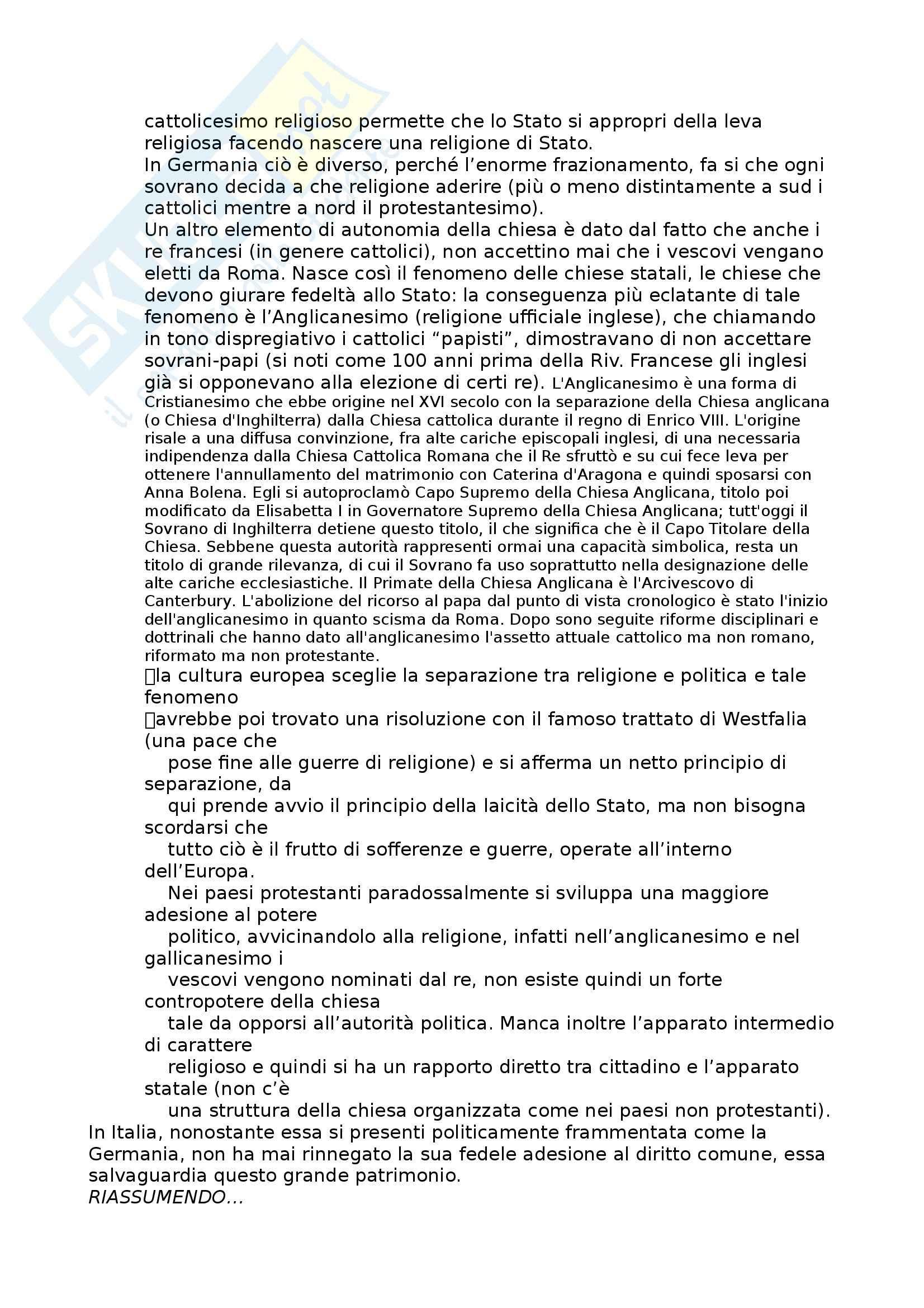 Riassunto esame Diritto Moderno e Contemporaneo, prof. Tavilla, libro consigliato Storia del Diritto in Europa, Padoa Schioppa Pag. 2