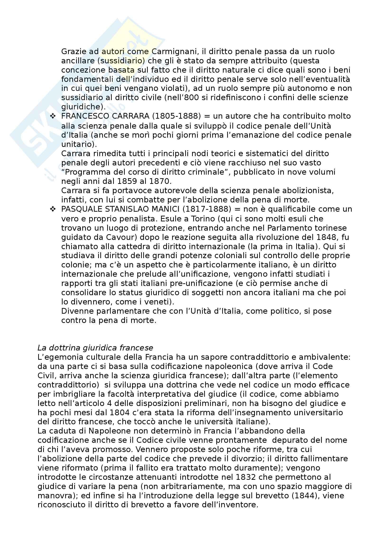 Riassunto esame Diritto Moderno e Contemporaneo, prof. Tavilla, libro consigliato Storia del Diritto in Europa, Padoa Schioppa Pag. 66