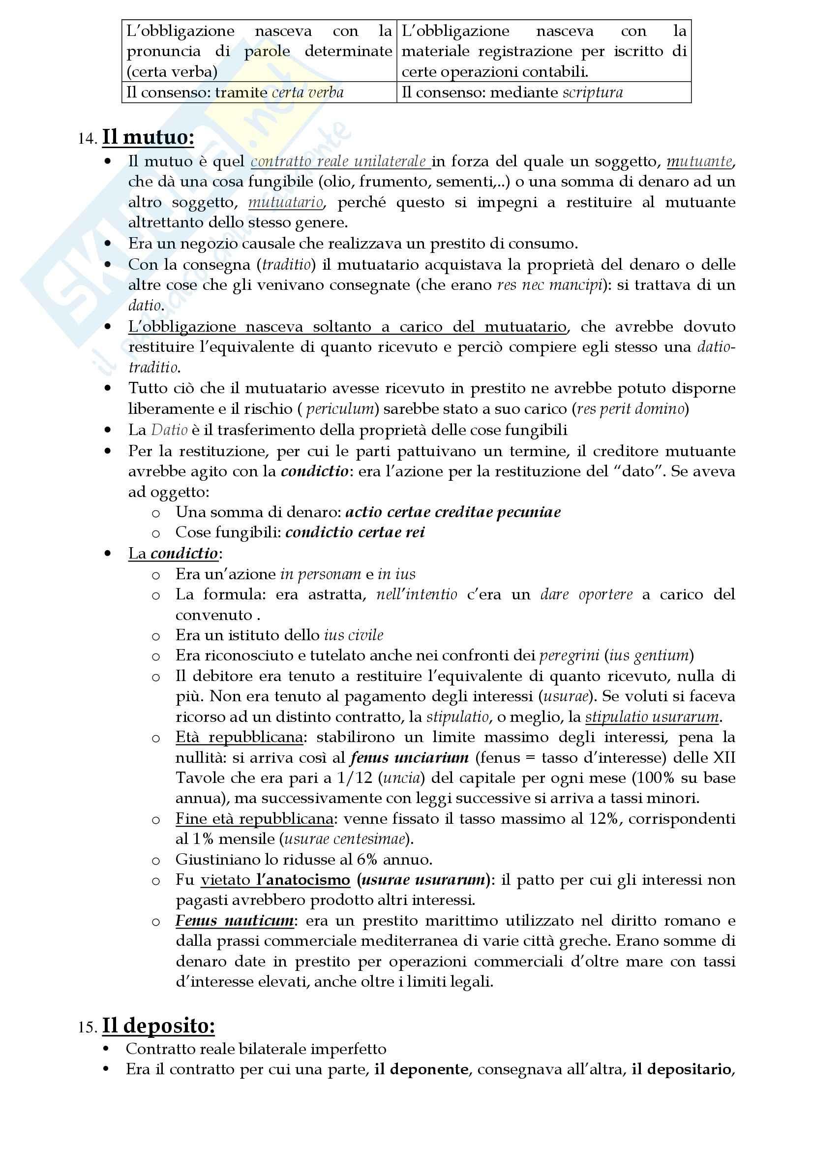 Riassunto esame Diritto Privato Romano, prof. Lantella, libro consigliato Lineamenti di Diritto Privato, Marrone Pag. 51