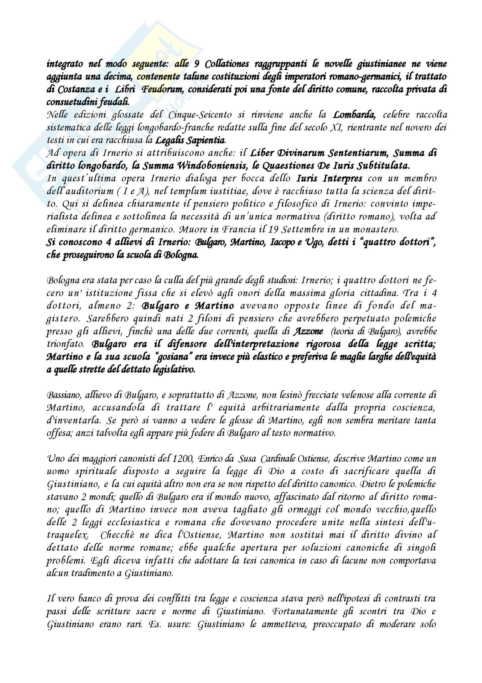 Storia del diritto medievale e moderno - Appunti Pag. 16