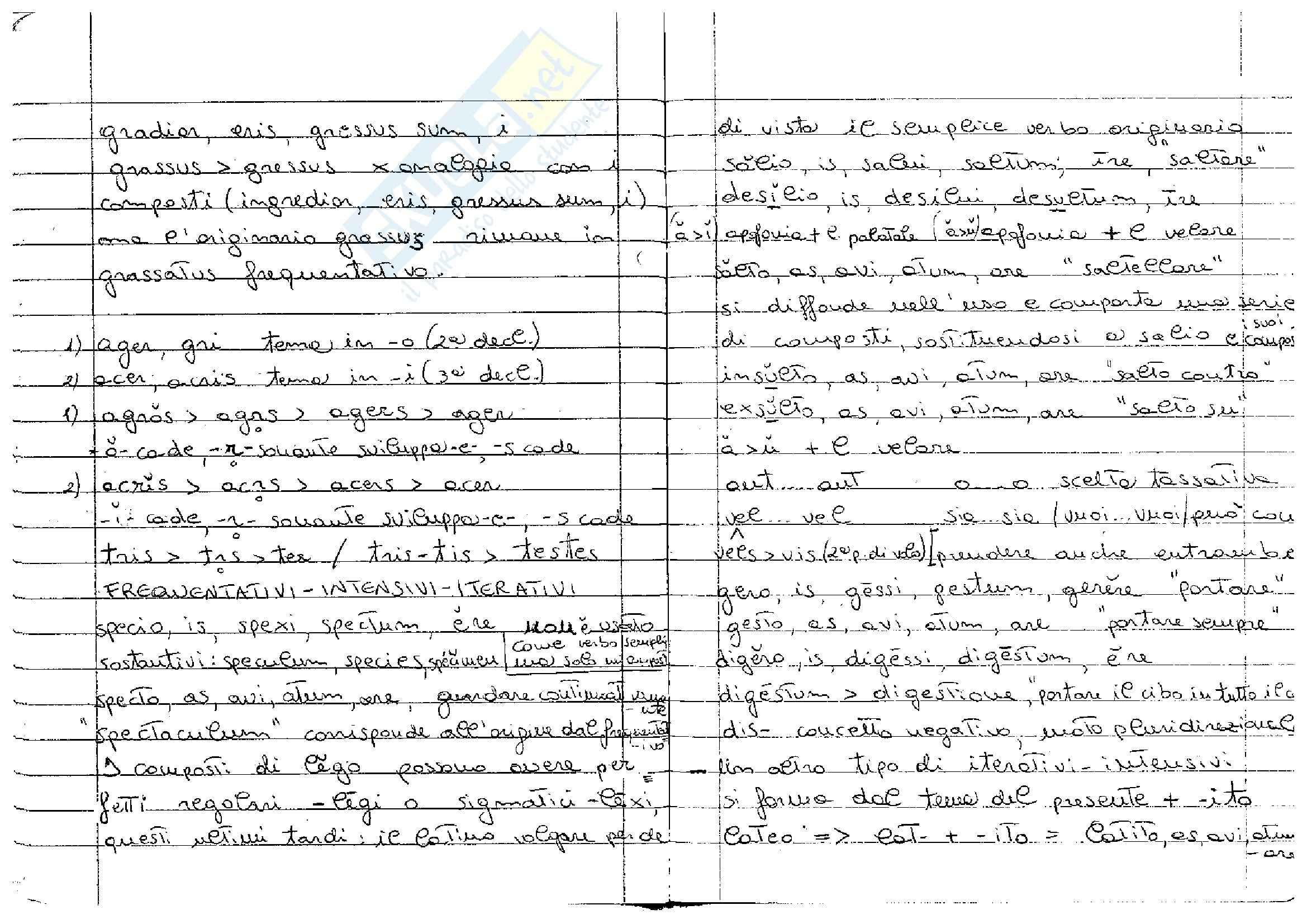 Verbi frequentativi, intensivi, iterativi latini