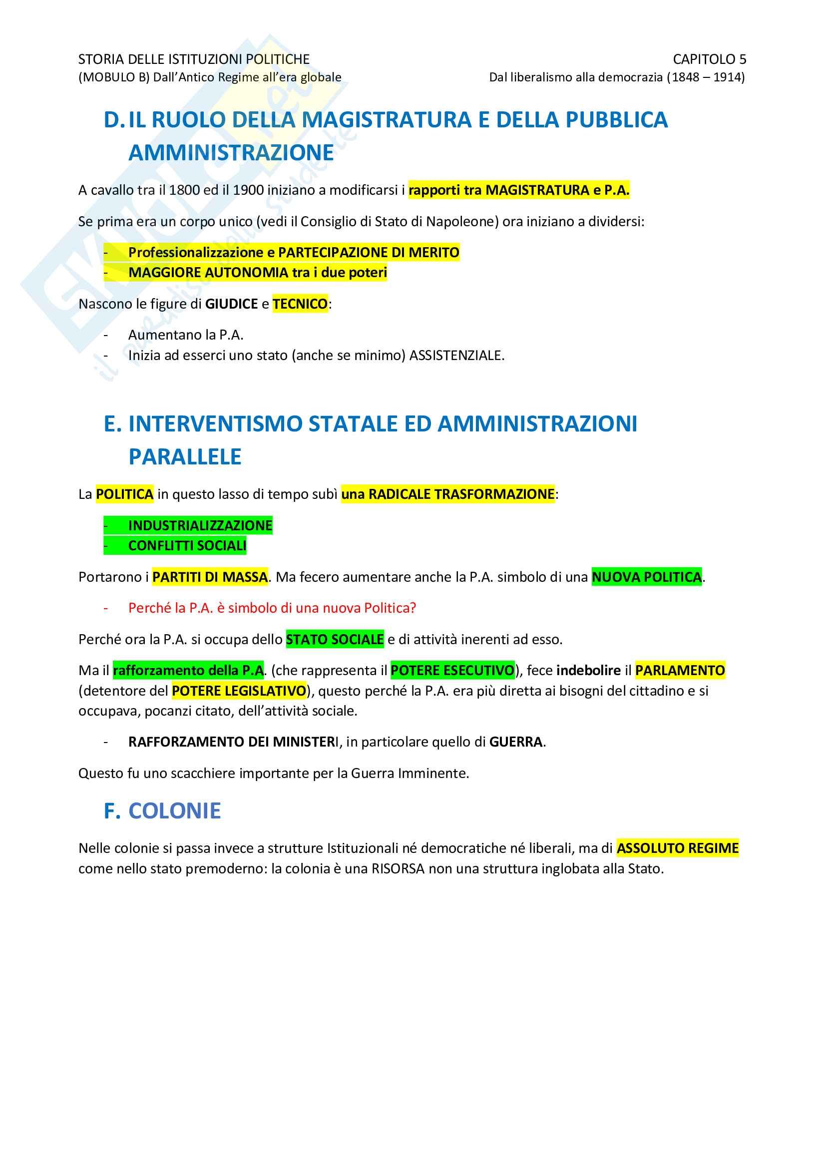 Storia delle Istituzioni Pag. 16