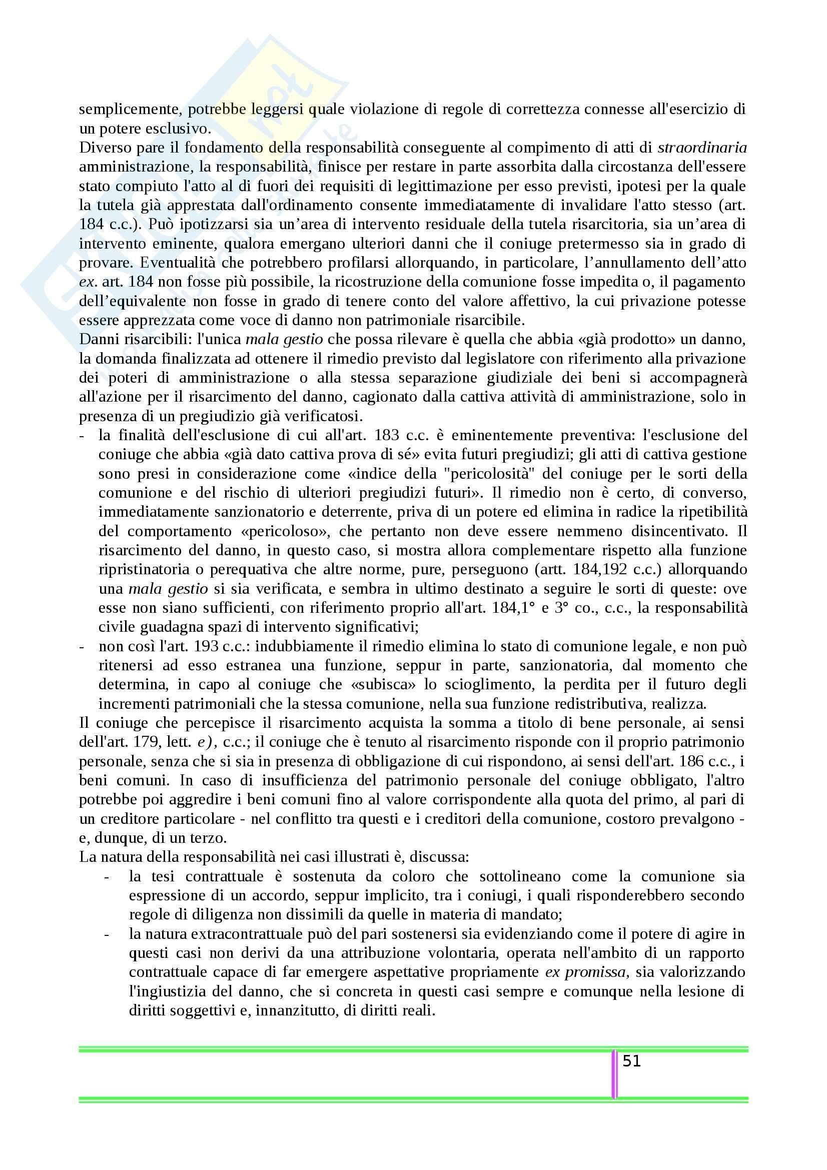 Riassunto esame Diritto Civile, prof. Balestra, libro consigliato La Responsabilità nelle Relazioni Familiari, Sesta Pag. 51