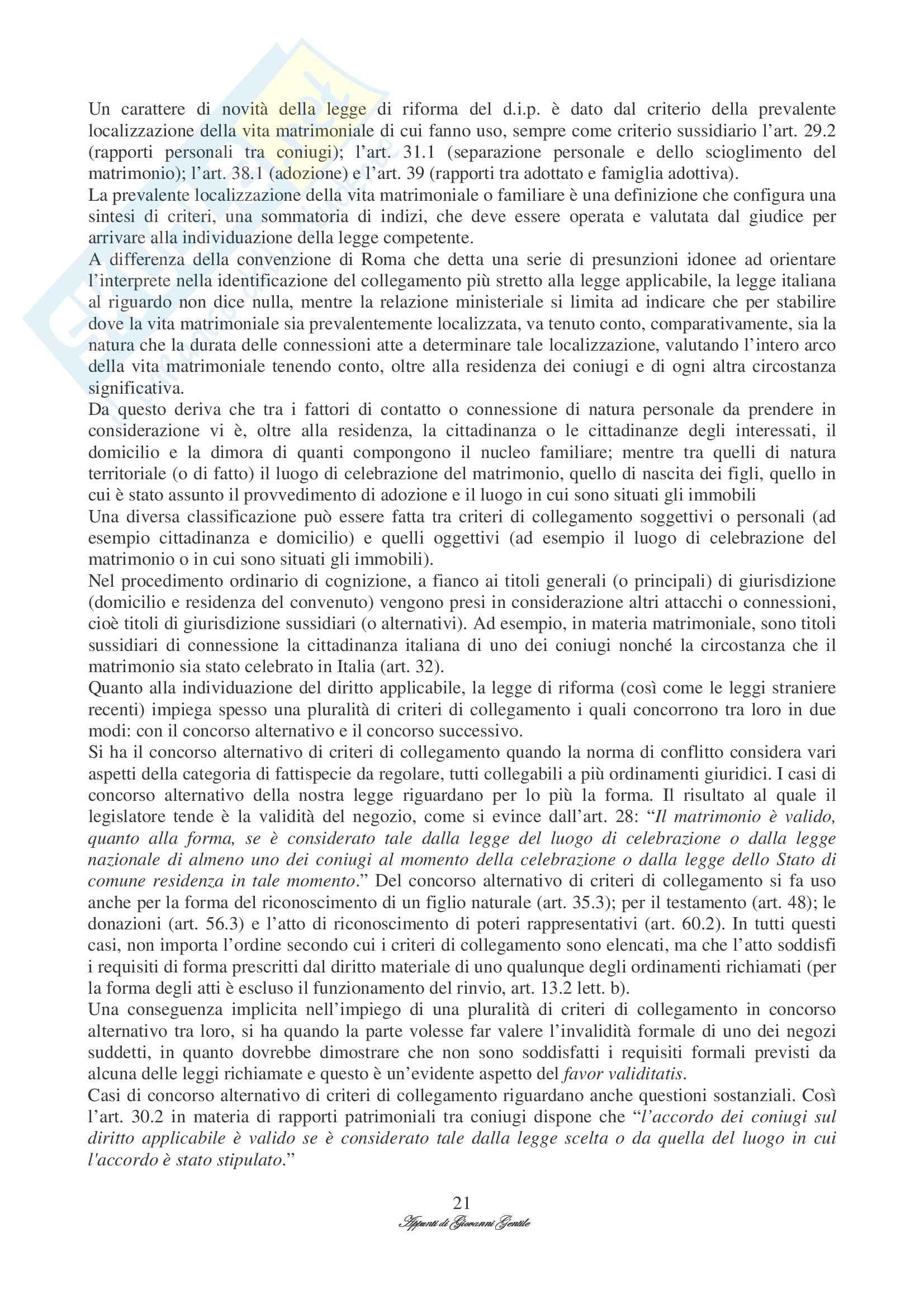 Diritto Internazionale Privato Pag. 21