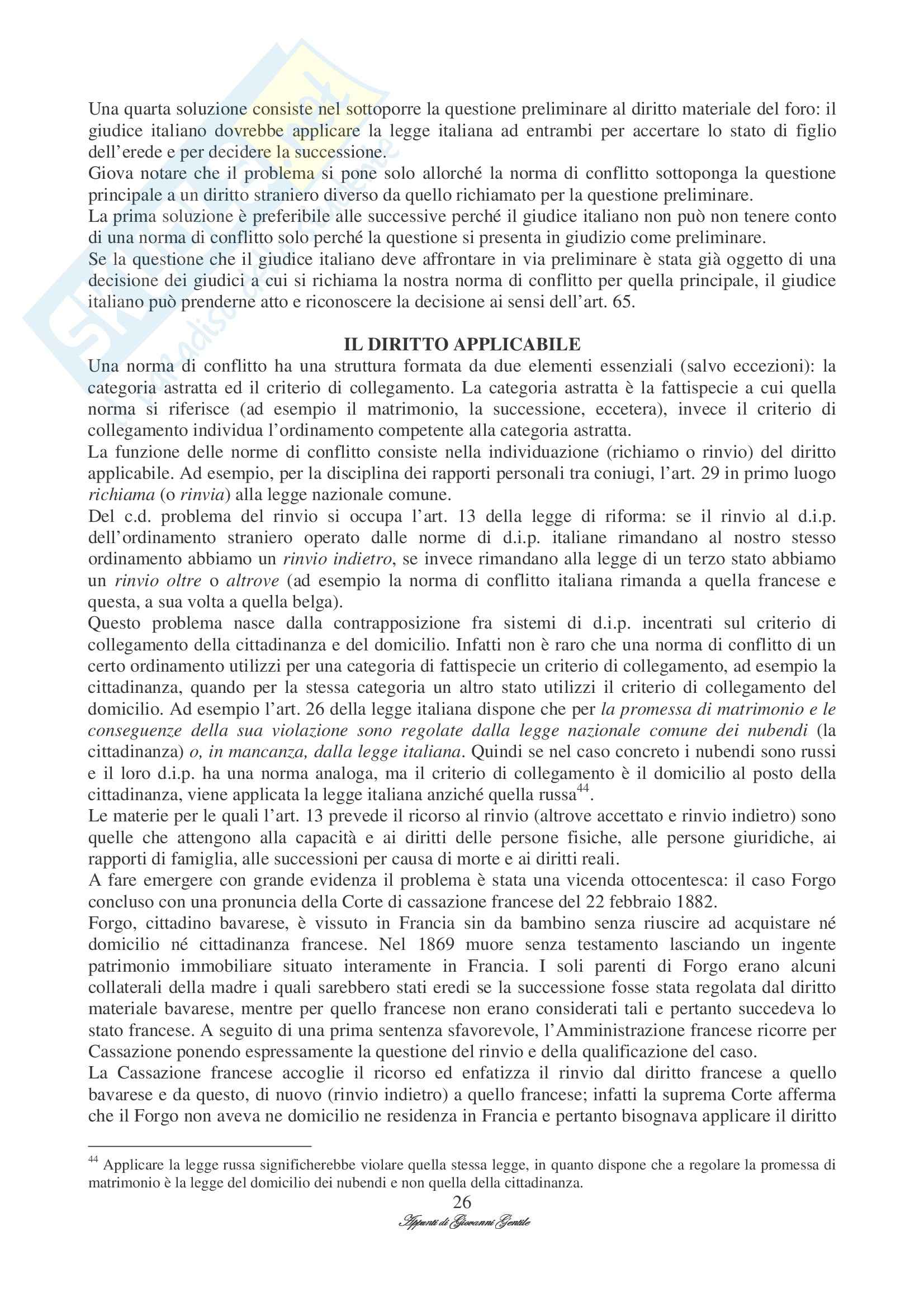 Diritto Internazionale Privato Pag. 26