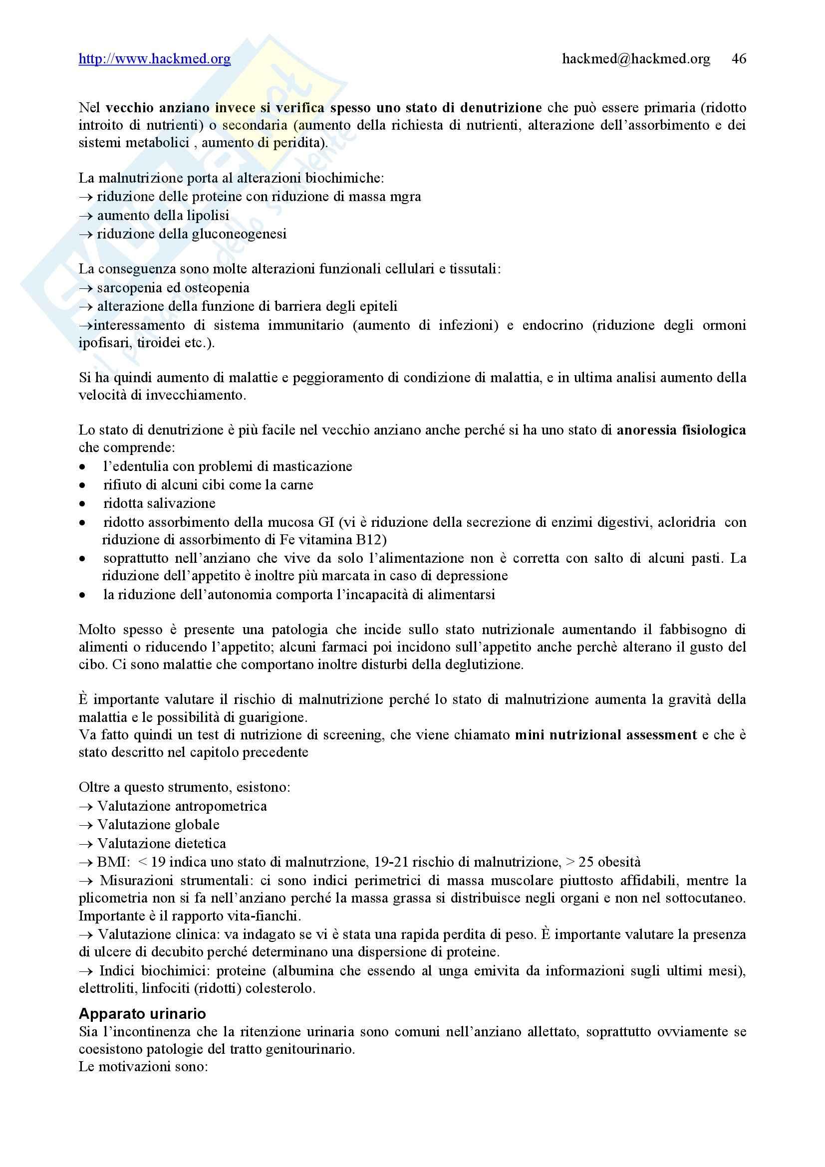 Geriatria - Nozioni generali Pag. 46