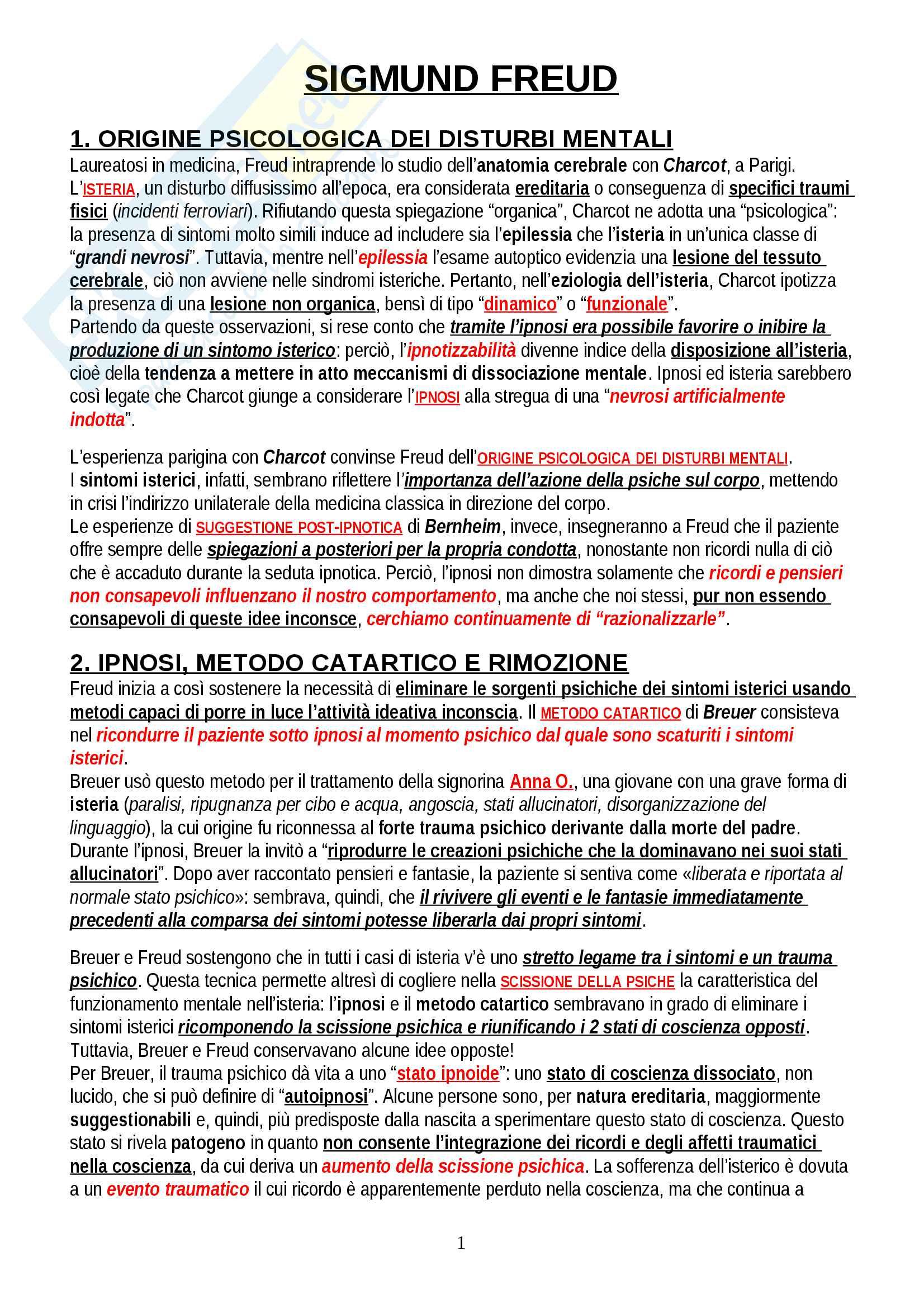 """Riassunto esame Psicologia Dinamica, prof. Gazzillo, libro consigliato """"Freud: la costruzione di un sapere"""", Gazzillo, Ortu"""