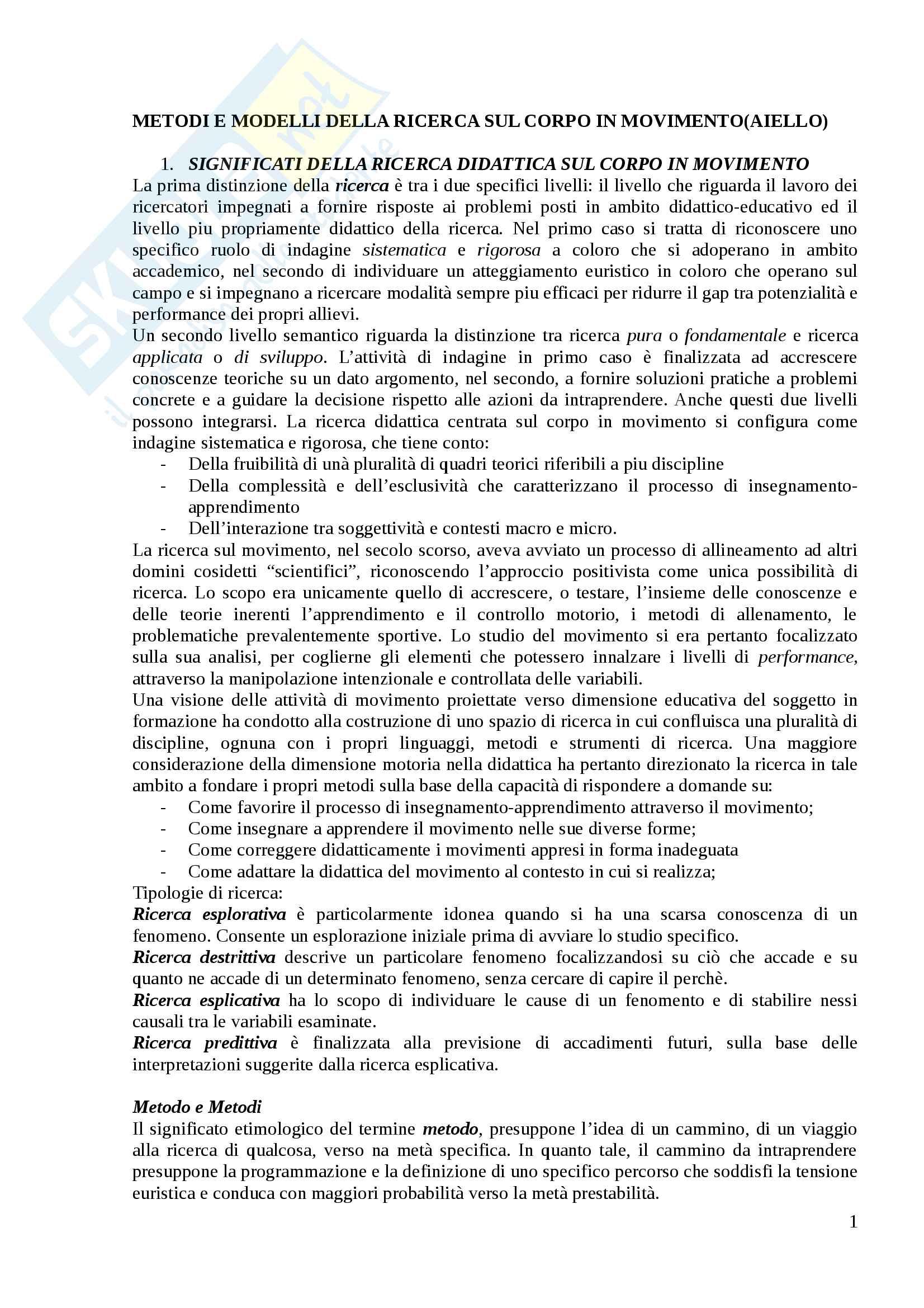 Metodologia della ricerca didattica ed elementi di pedagogia speciale