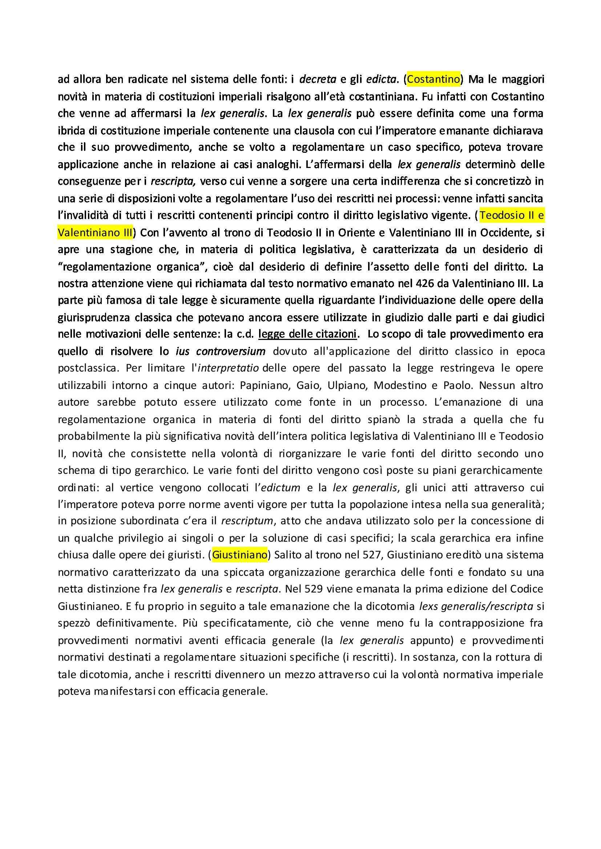 Le fonti di produzione del diritto romano - Riassunto esame Pag. 6