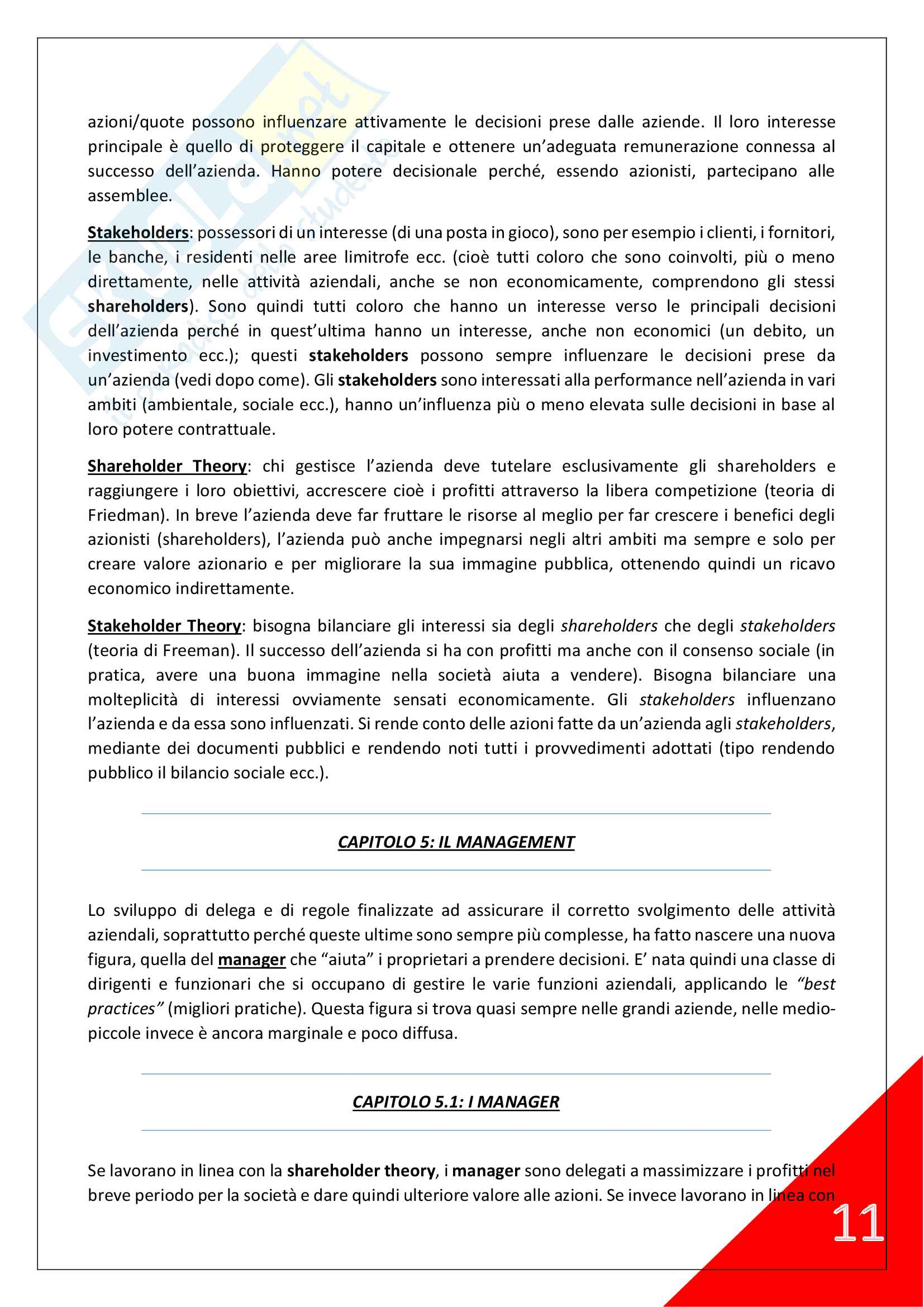 Economia Aziendale - 1° Anno Scienze Motorie Pag. 11