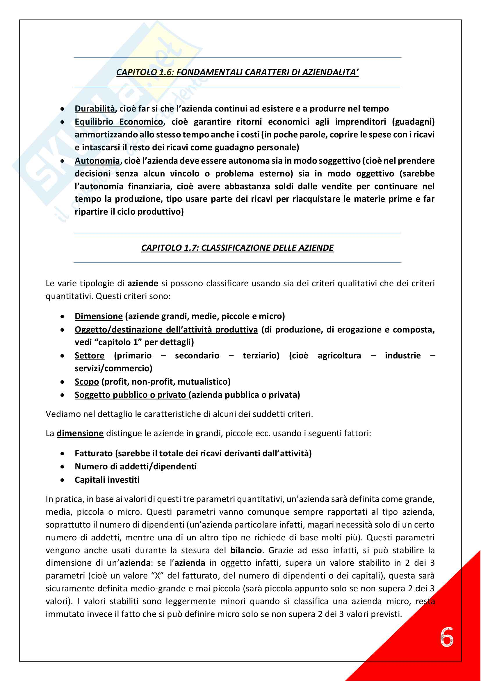 Economia Aziendale - 1° Anno Scienze Motorie Pag. 6