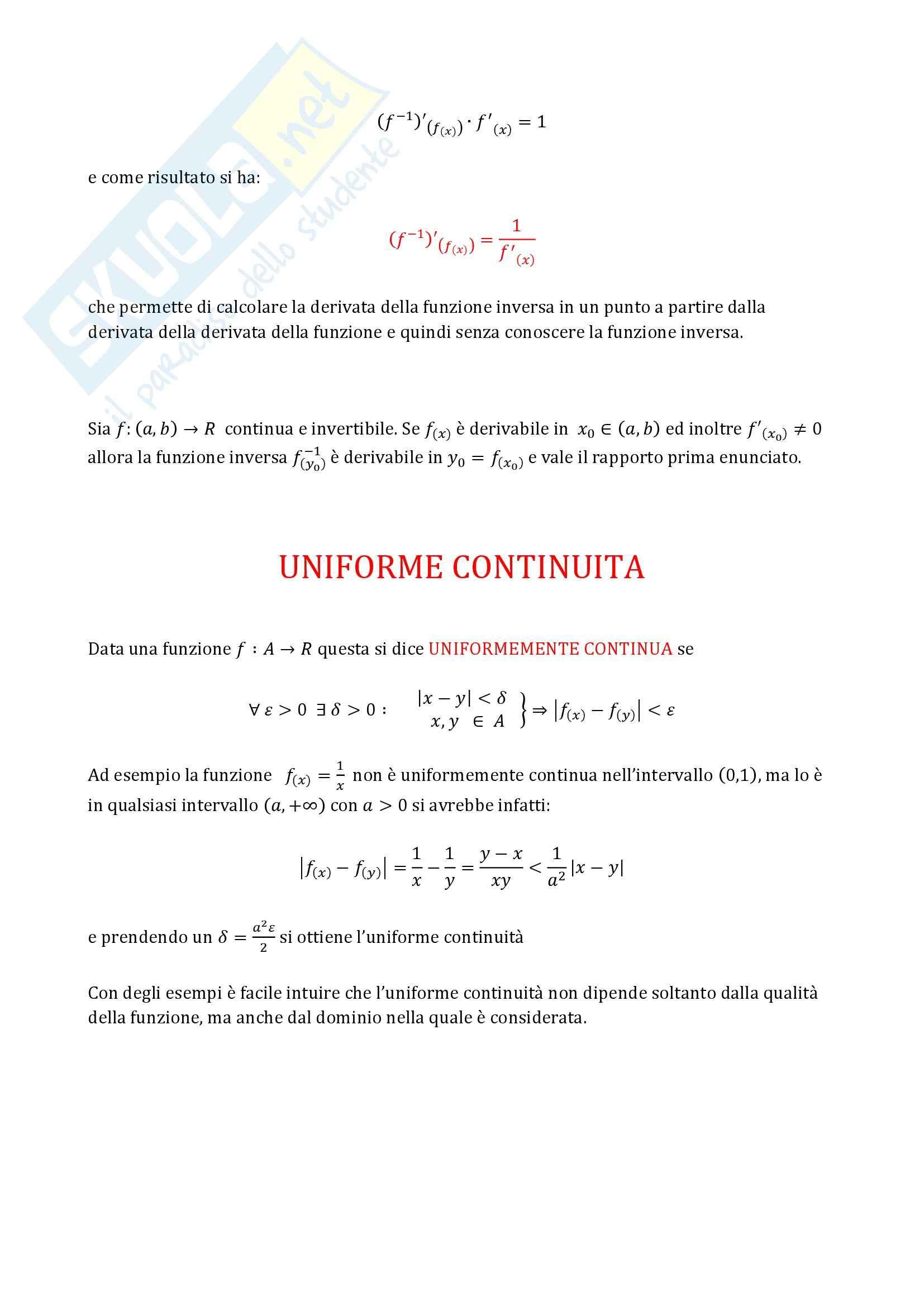 Analisi matematica 1 - Derivazione ed Integrazione Pag. 2