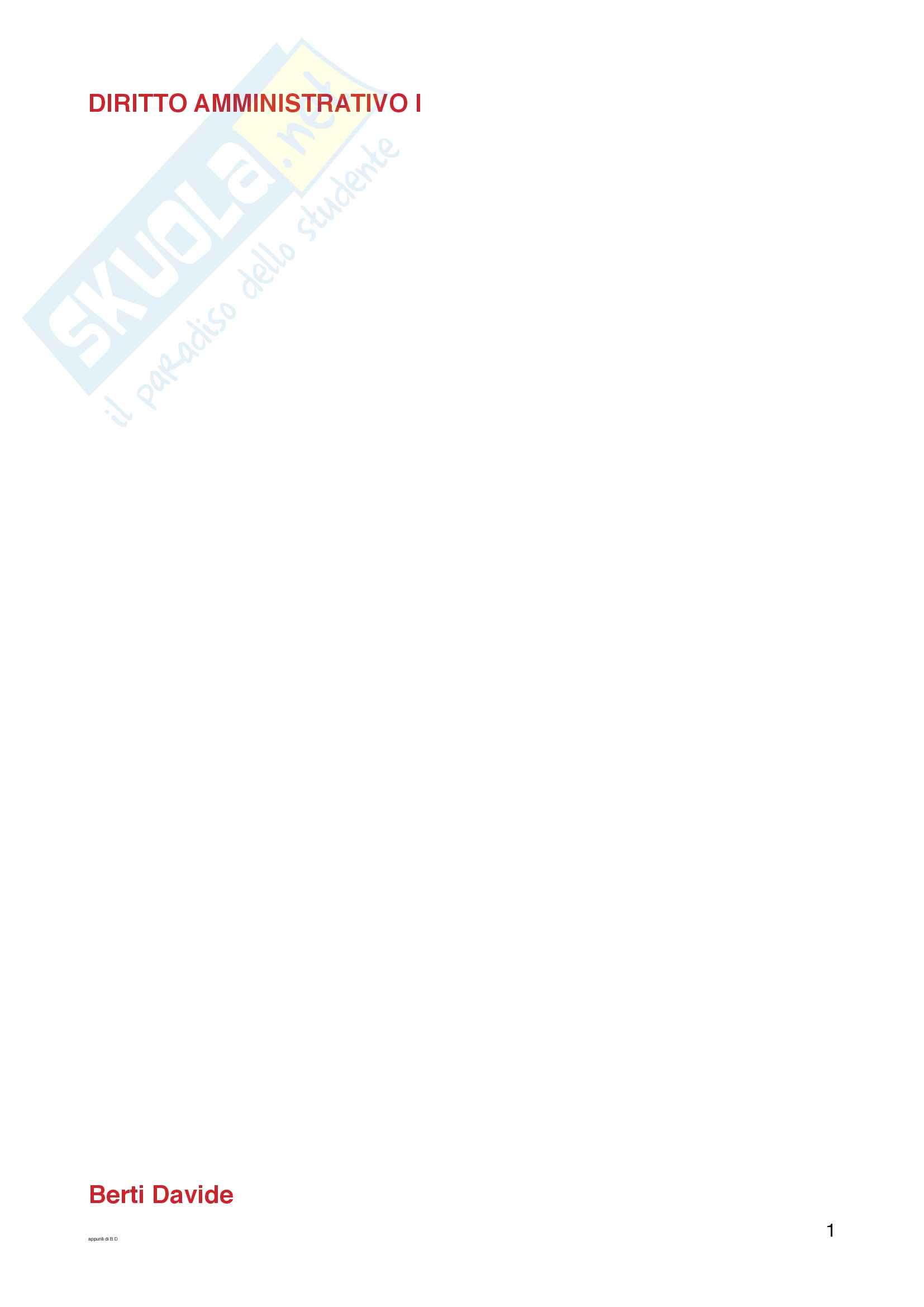 Diritto amministrativo 1 PDF