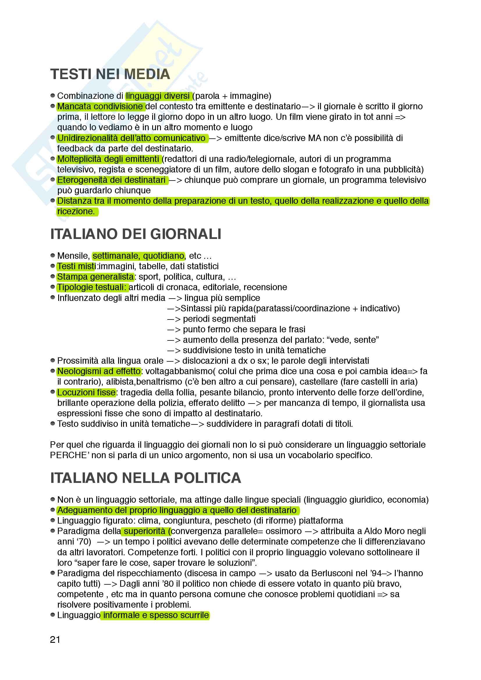 Italiano, appunti Pag. 21