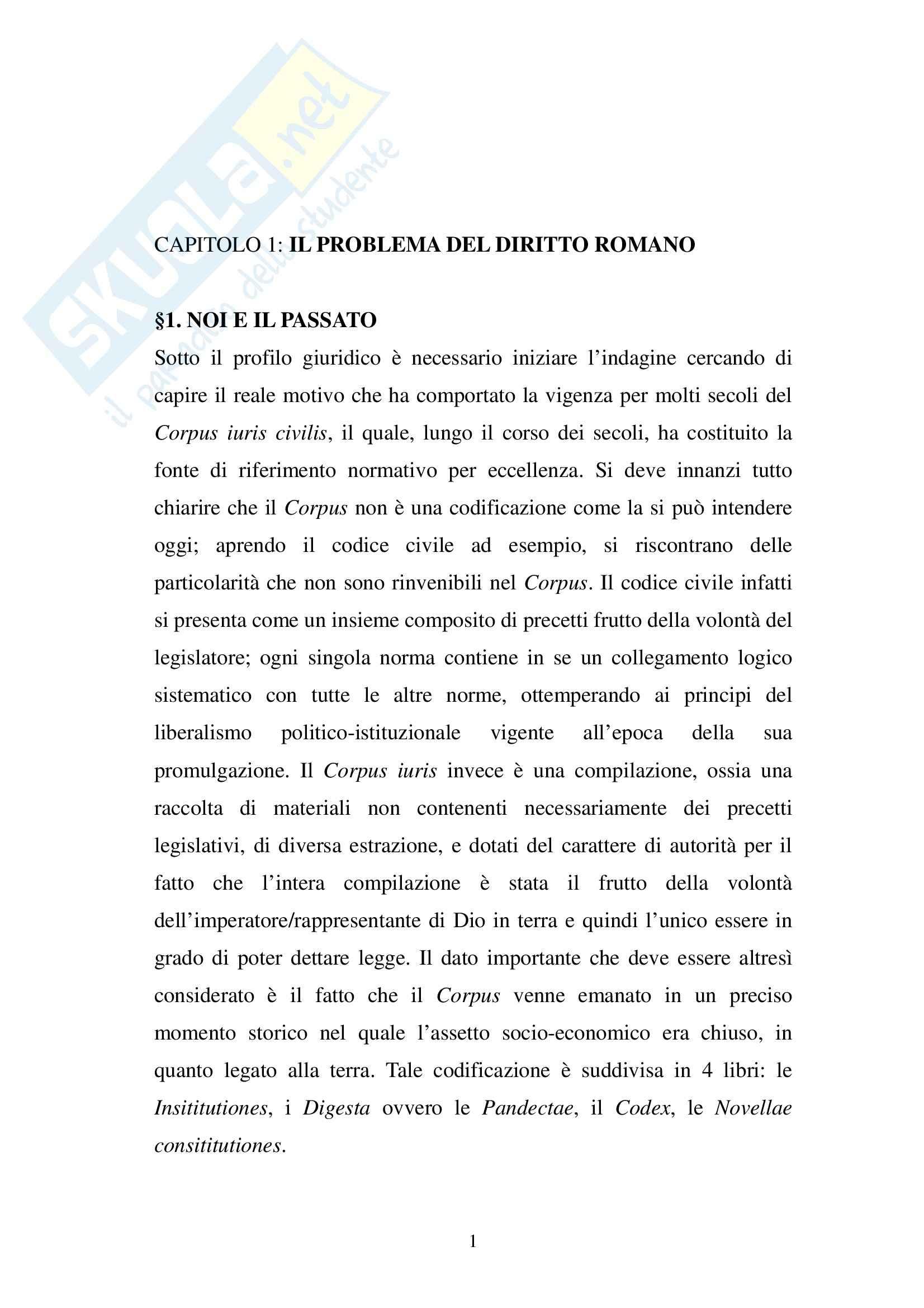appunto A. Mantello Diritto romano