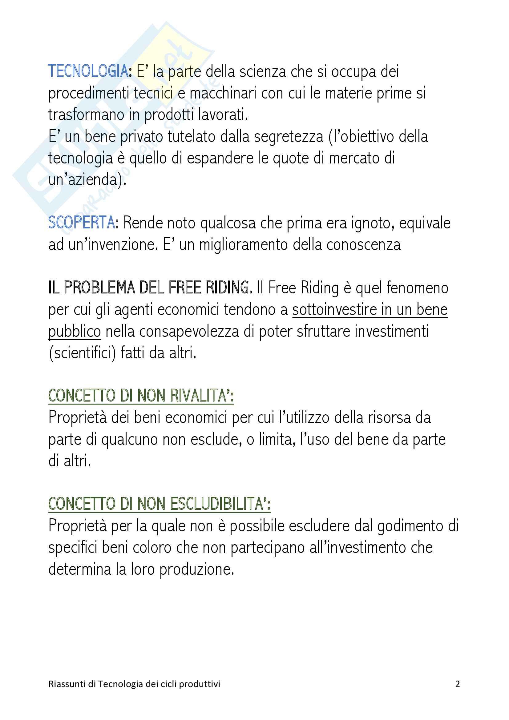 Riassunti di Cicli produttivi Pag. 2
