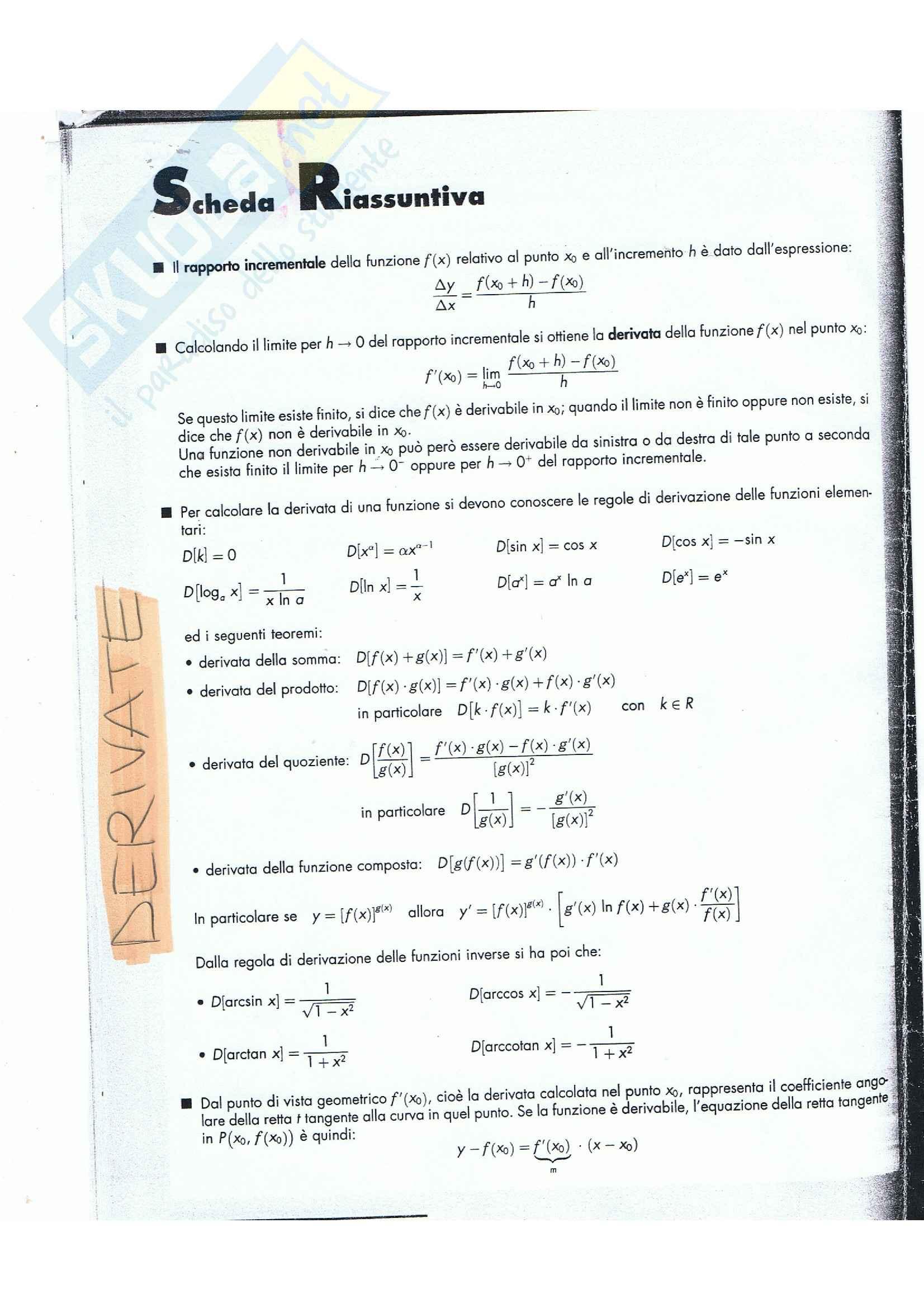 Analisi matematica I - derivate