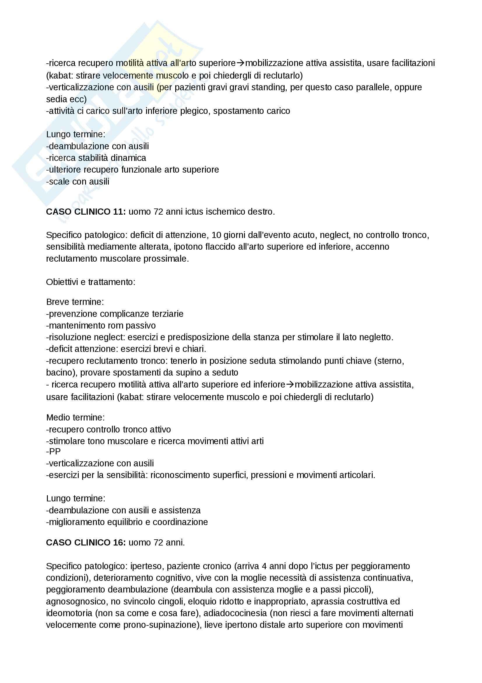 Riabilitazione neurologica - risoluzione dei casi clinici neurologici Pag. 2