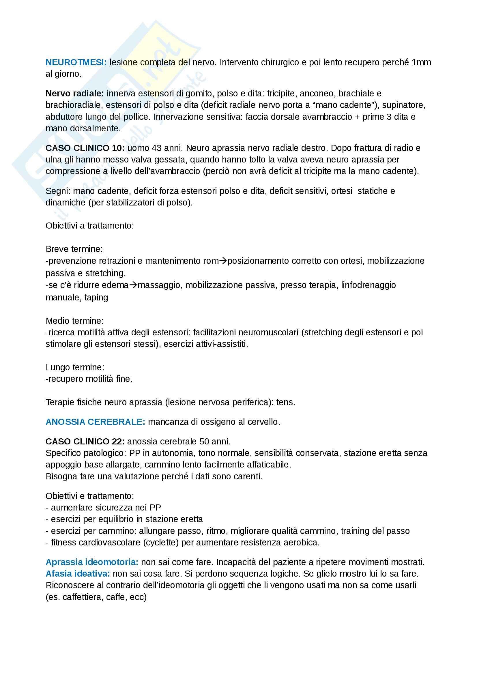Riabilitazione neurologica - risoluzione dei casi clinici neurologici Pag. 6