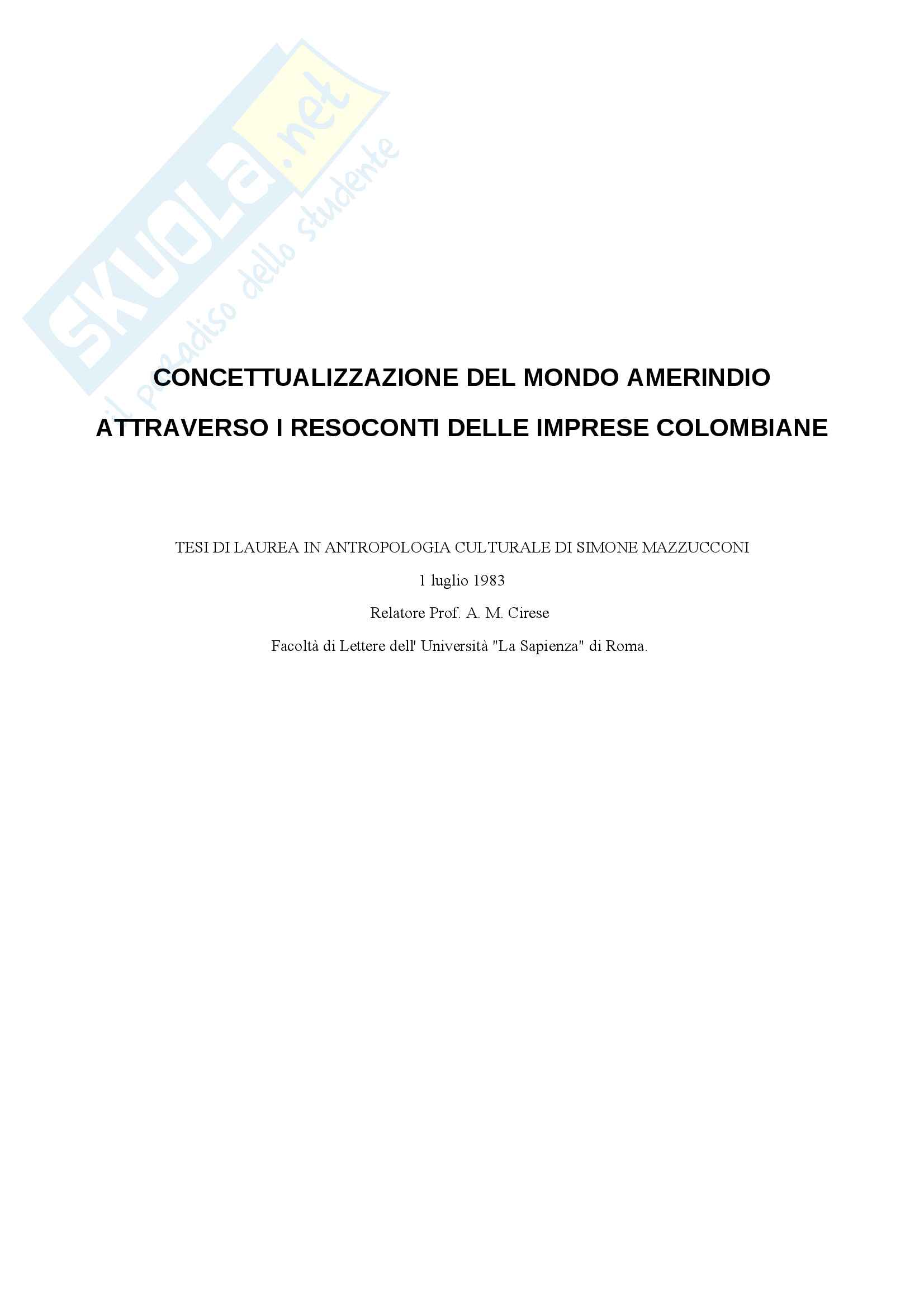 Concettualizzazione del mondo amerindio attraverso i resoconti delle imprese colombiane
