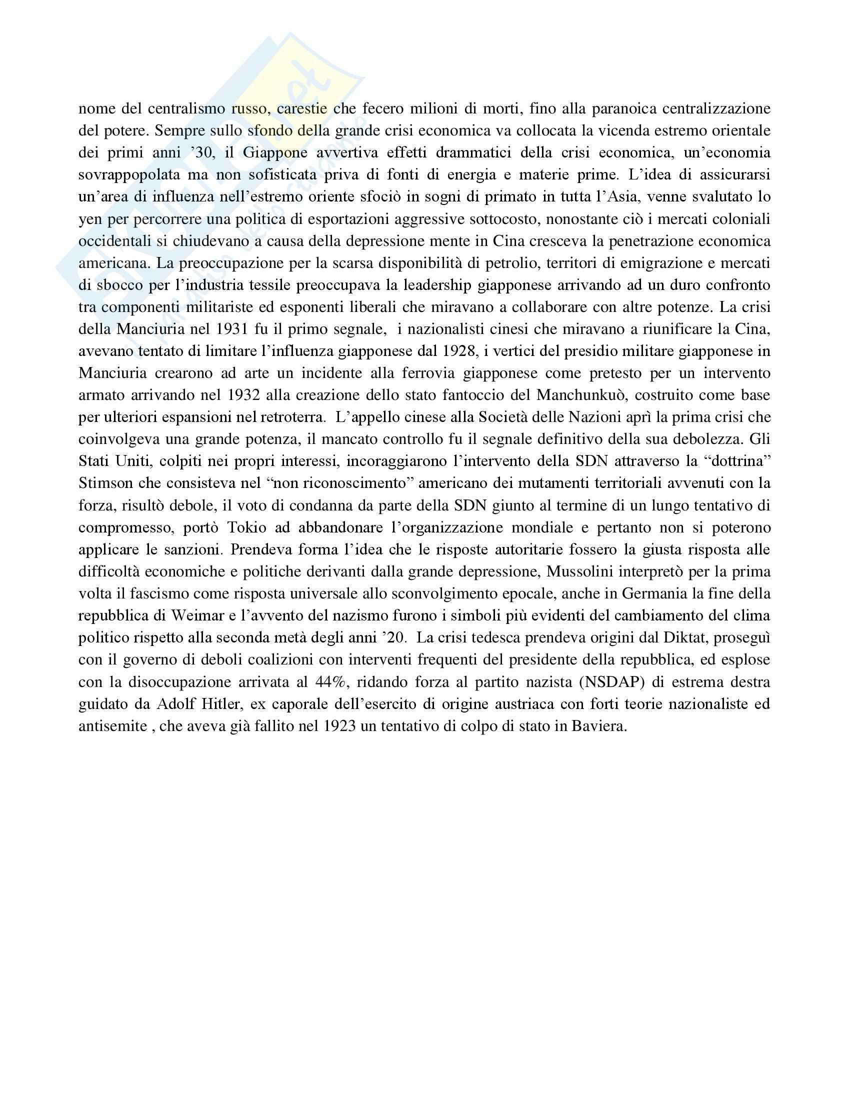 Riassunto esame Storia contemporanea, prof. Traniello, libro consigliato La politica internazionale del Novecento di Formigoni Pag. 36