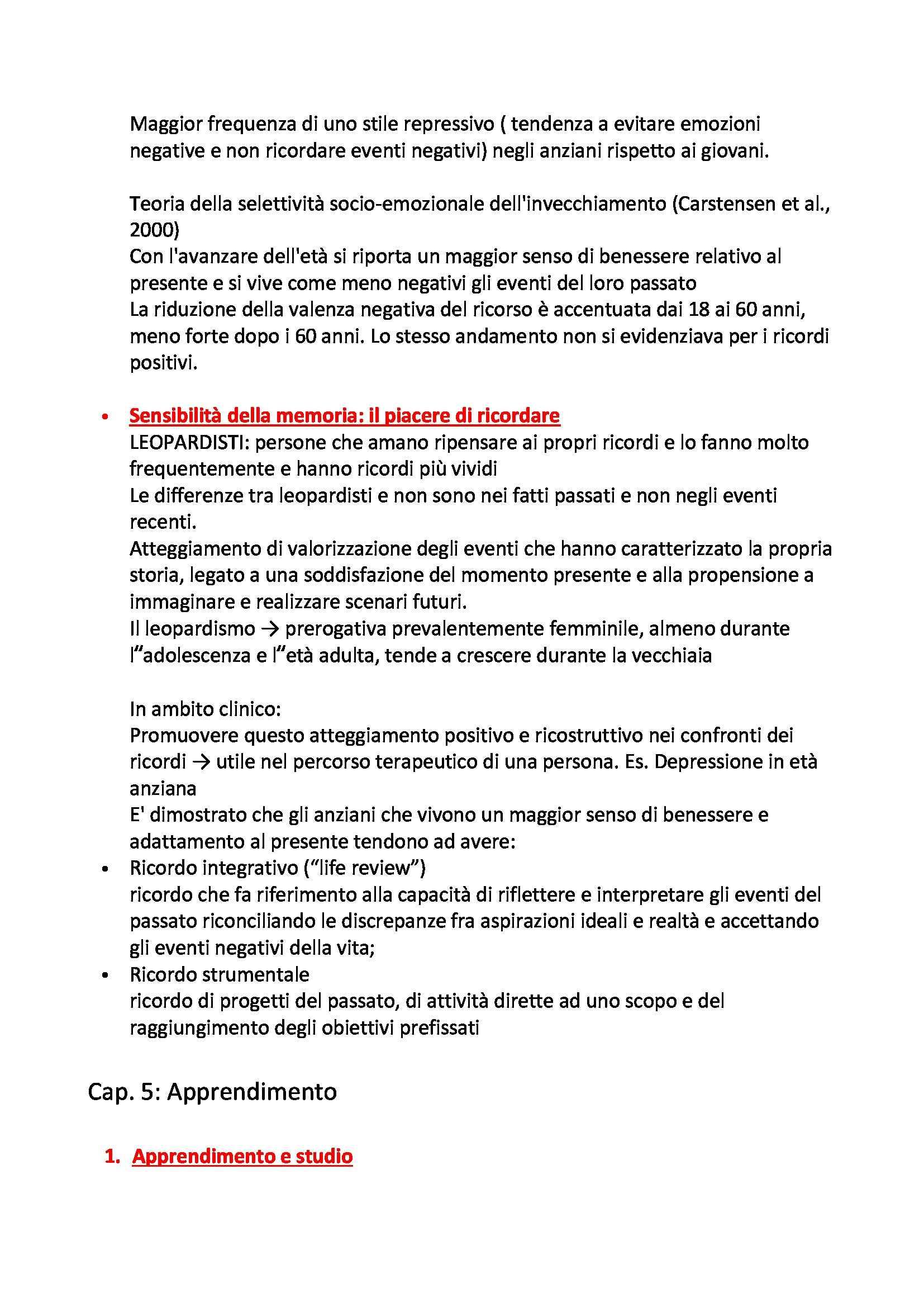 Riassunto esame Psicologia della Personalità e delle Differenze Individuali, prof. Carretti Pag. 26