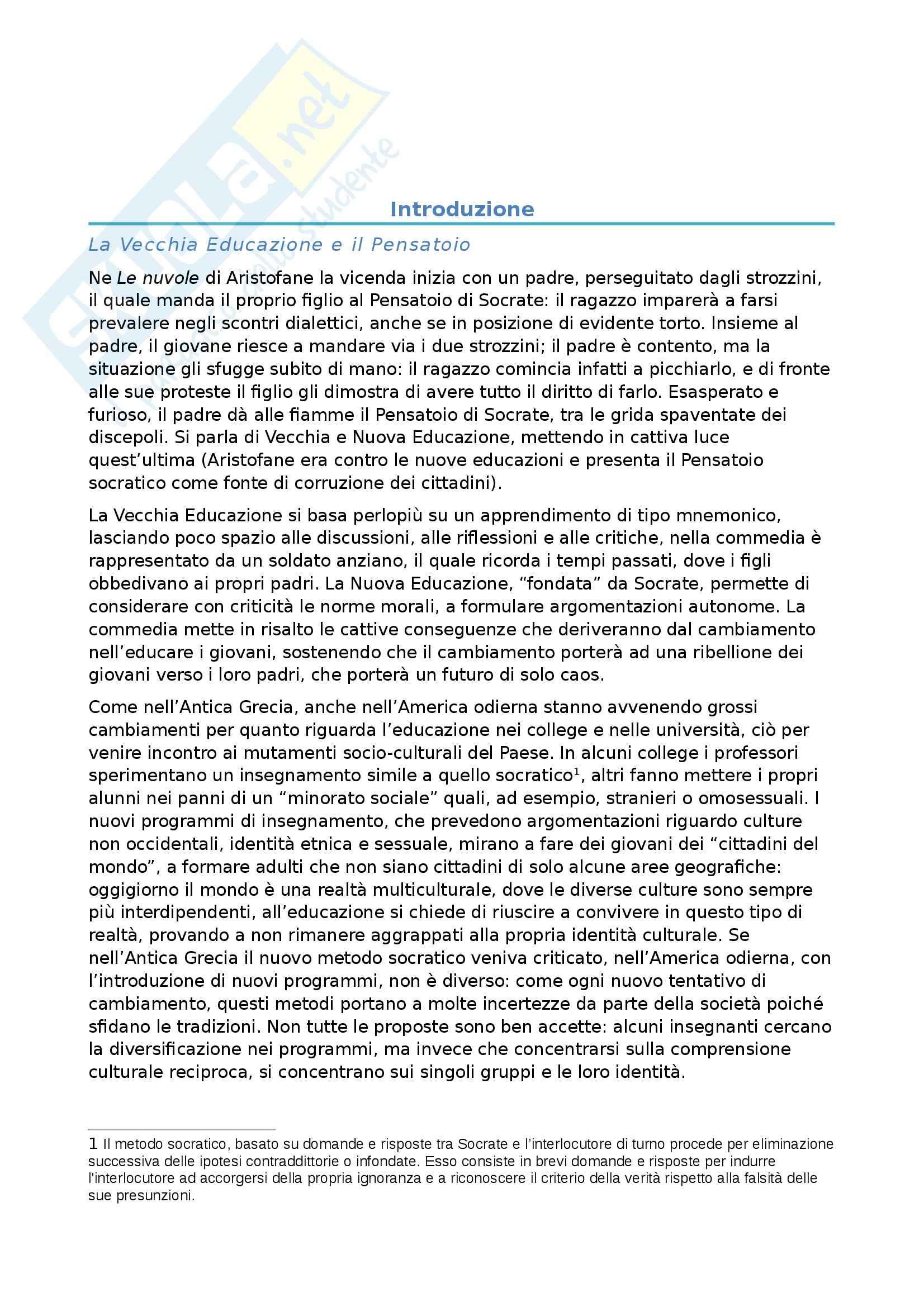 Riassunto esame Etica della comunicazione prof. Delogu, libro consigliato Coltivare l'umanità, Nussbaum Pag. 1