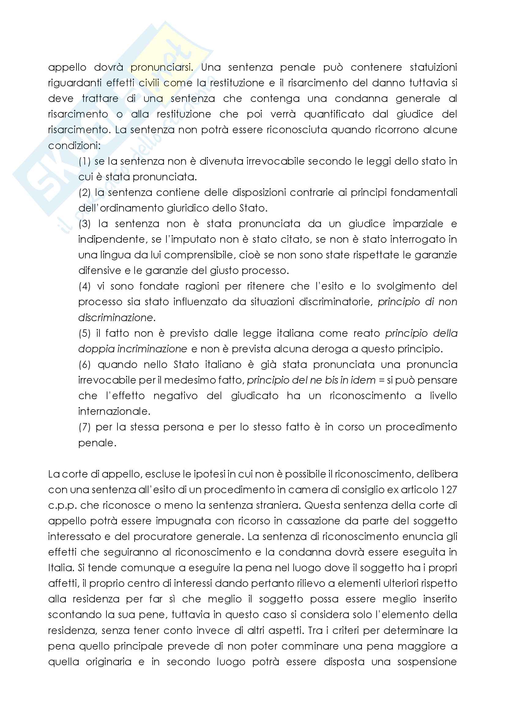 Riconoscimento delle sentenze penali straniere Pag. 2