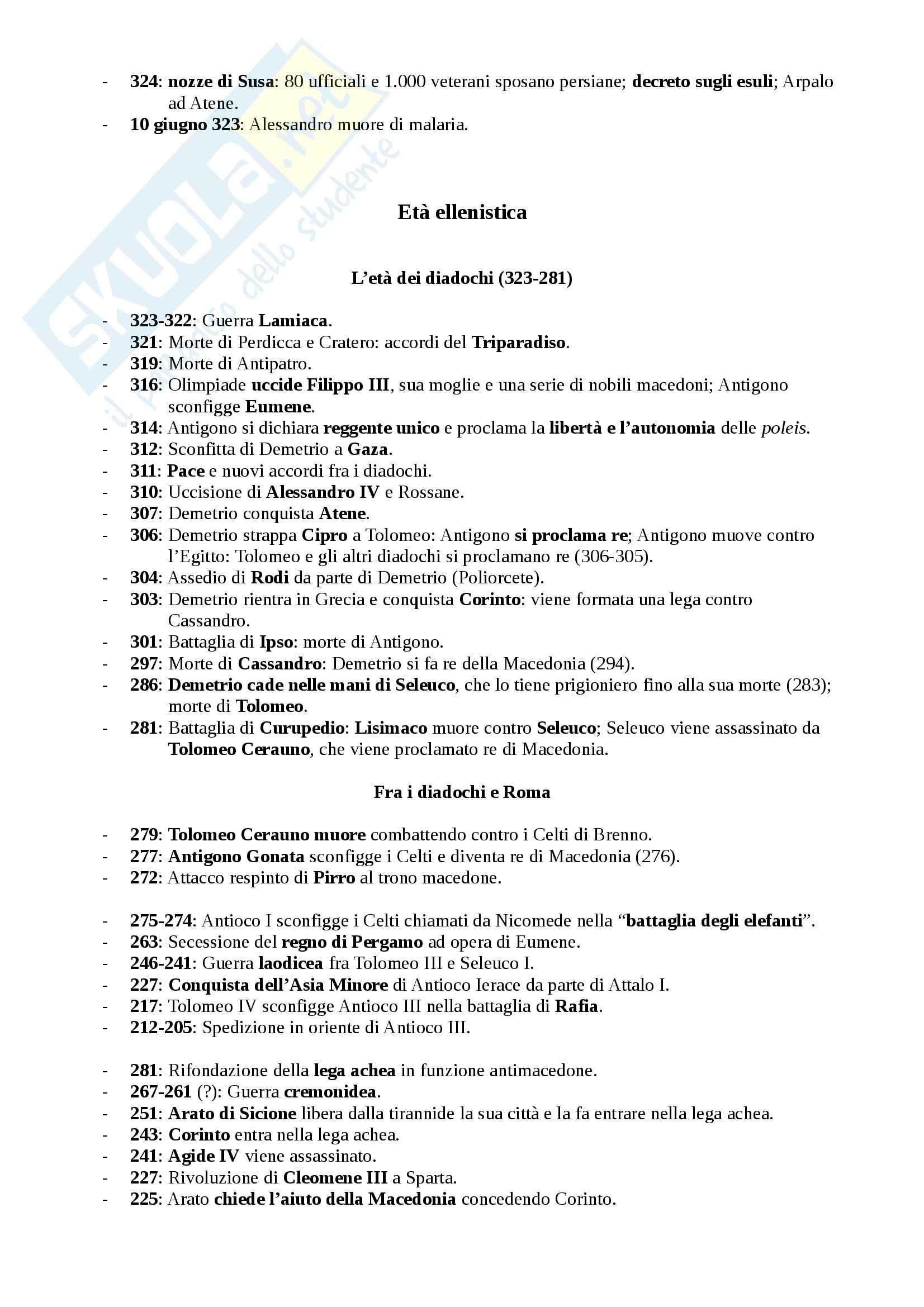 Storia greca - Cronologia Pag. 6