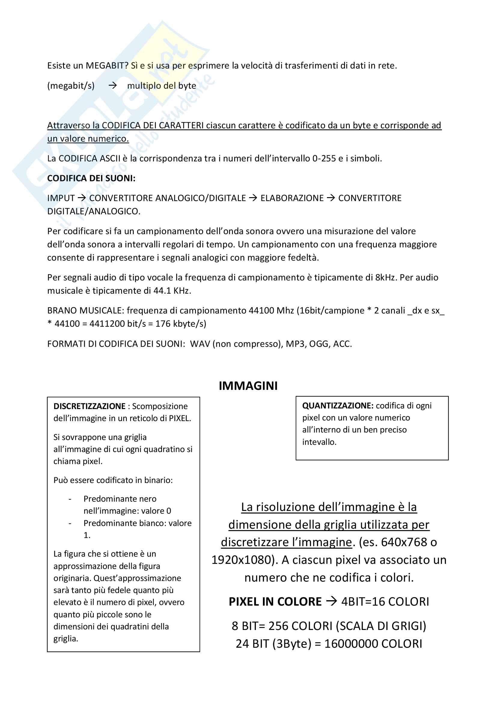 Riassunto Esame Abilità informatiche, 3cfu Pag. 2