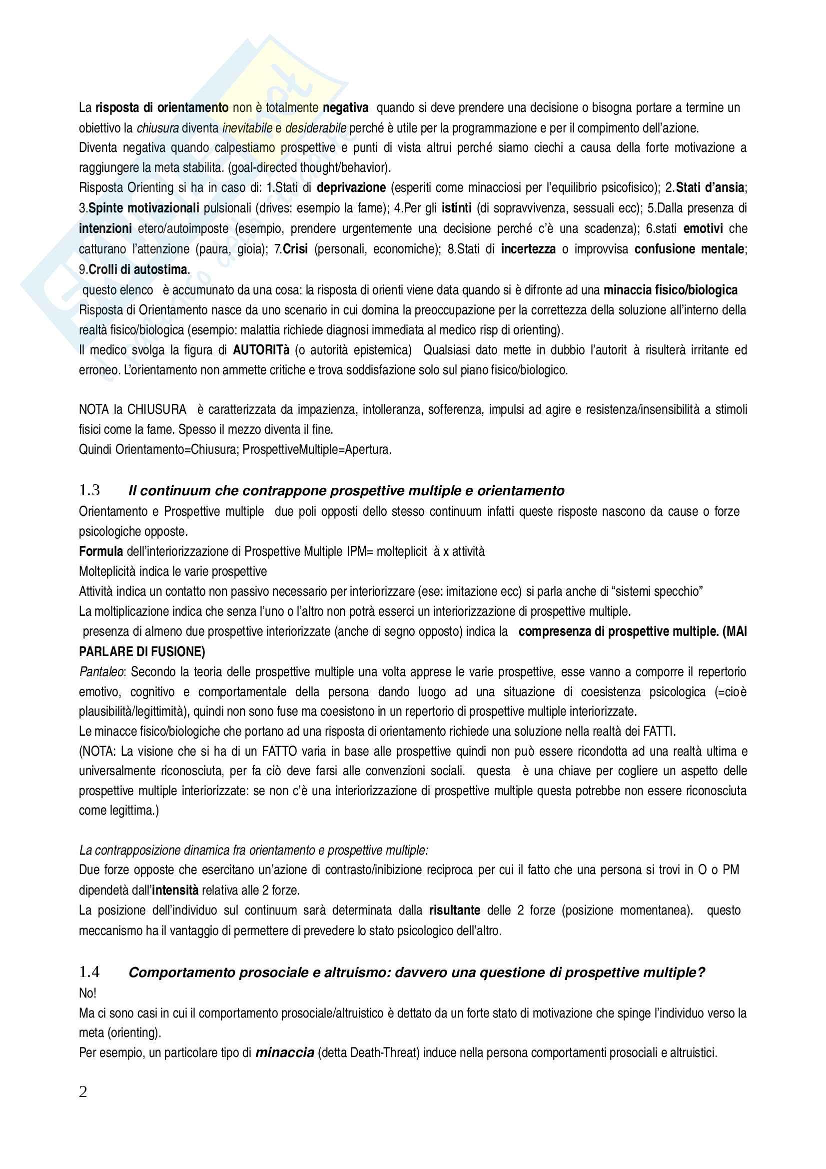 Riassunto esame psicologia sociale II, prof. Pantaleo, libro consigliato Altrusimo e comportamento prosociale di S. Boca, Abbate - Cap 9 più le note Pag. 2