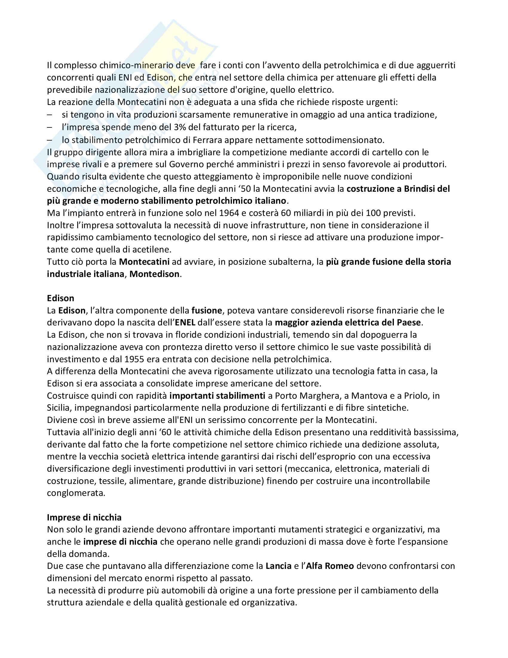 Riassunto esame di Storia dell'industria, prof. De Ianni, libro consigliato Impresa e industria in Italia: dall'unità ad oggi, Amatori, Colli Pag. 71