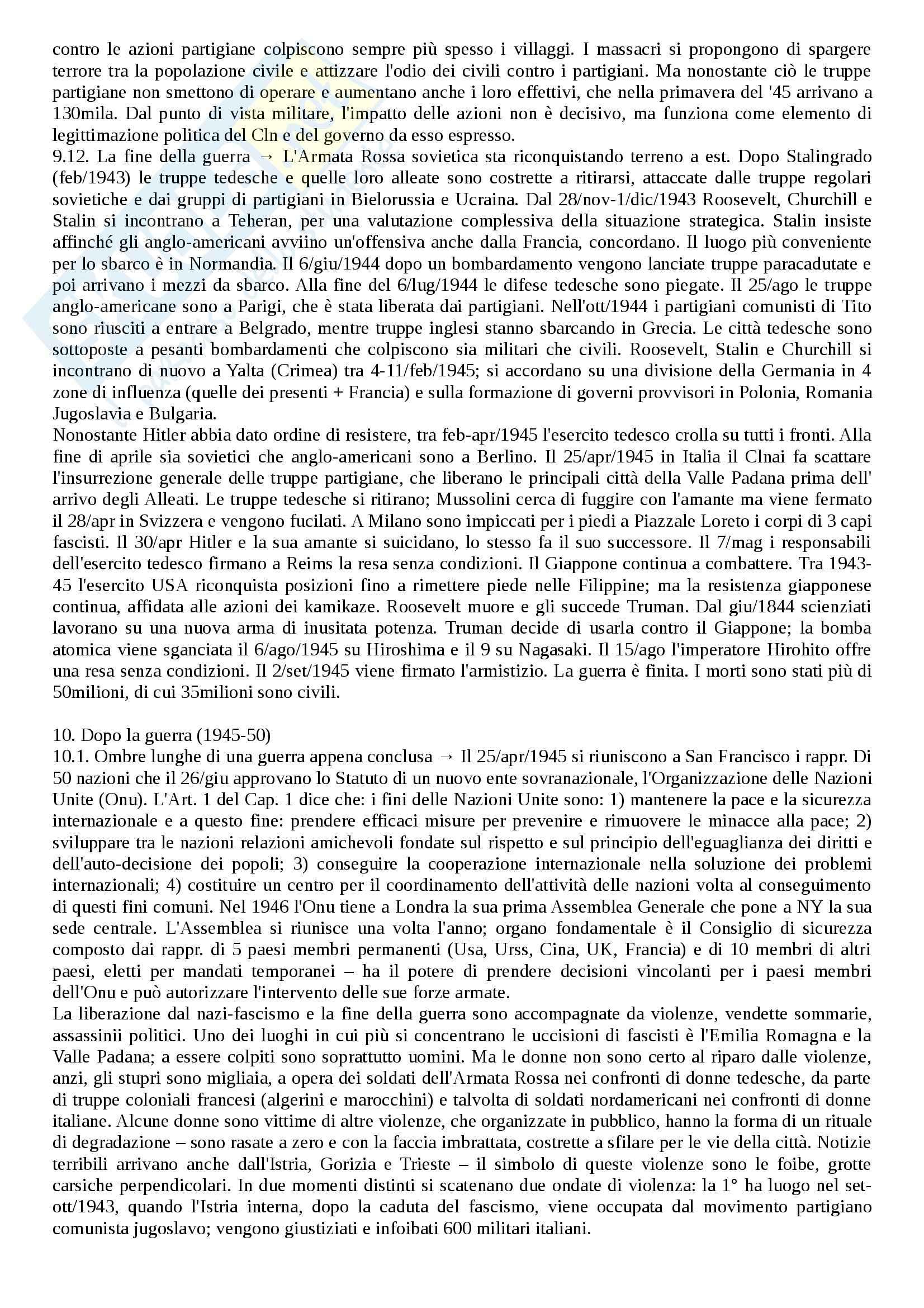 Riassunto esame Storia contemporanea, prof. Soldani, libro consigliato L'età contemporanea, dalla Grande Guerra a oggi, Banti Pag. 31